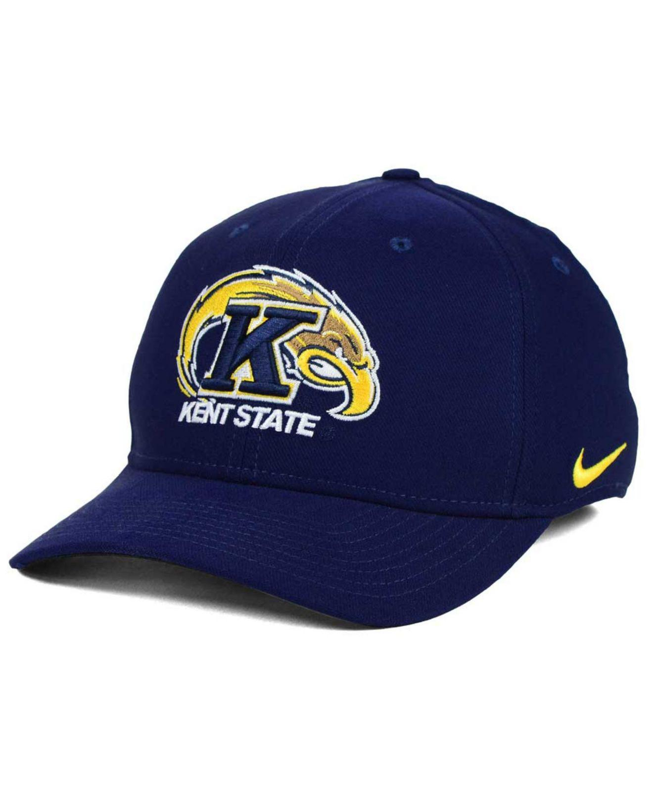 another chance 55612 7a49d ... discount code for lyst nike kent state golden flashes classic swoosh cap  in blue for men