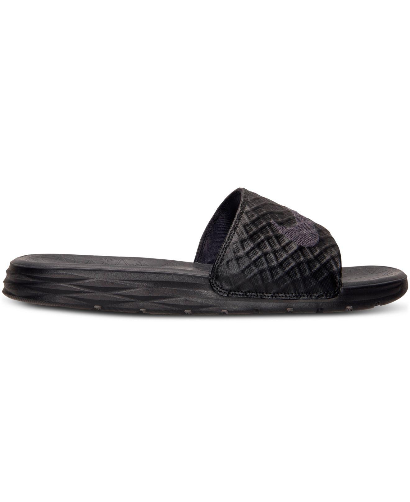 31cd1b16e608a Lyst - Nike Men s Benassi Solarsoft Slide 2 Sandals From Finish Line in  Black for Men - Save 28%