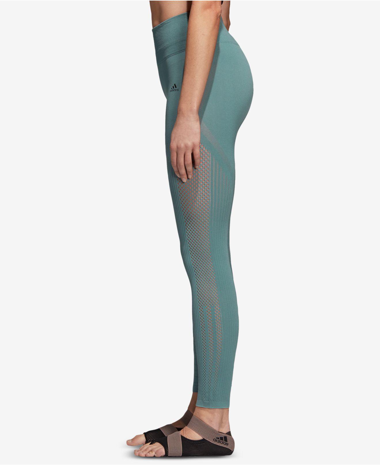 c14fde88adcc6 Adidas - Green Warp-knit High-rise Ankle Leggings - Lyst. View fullscreen