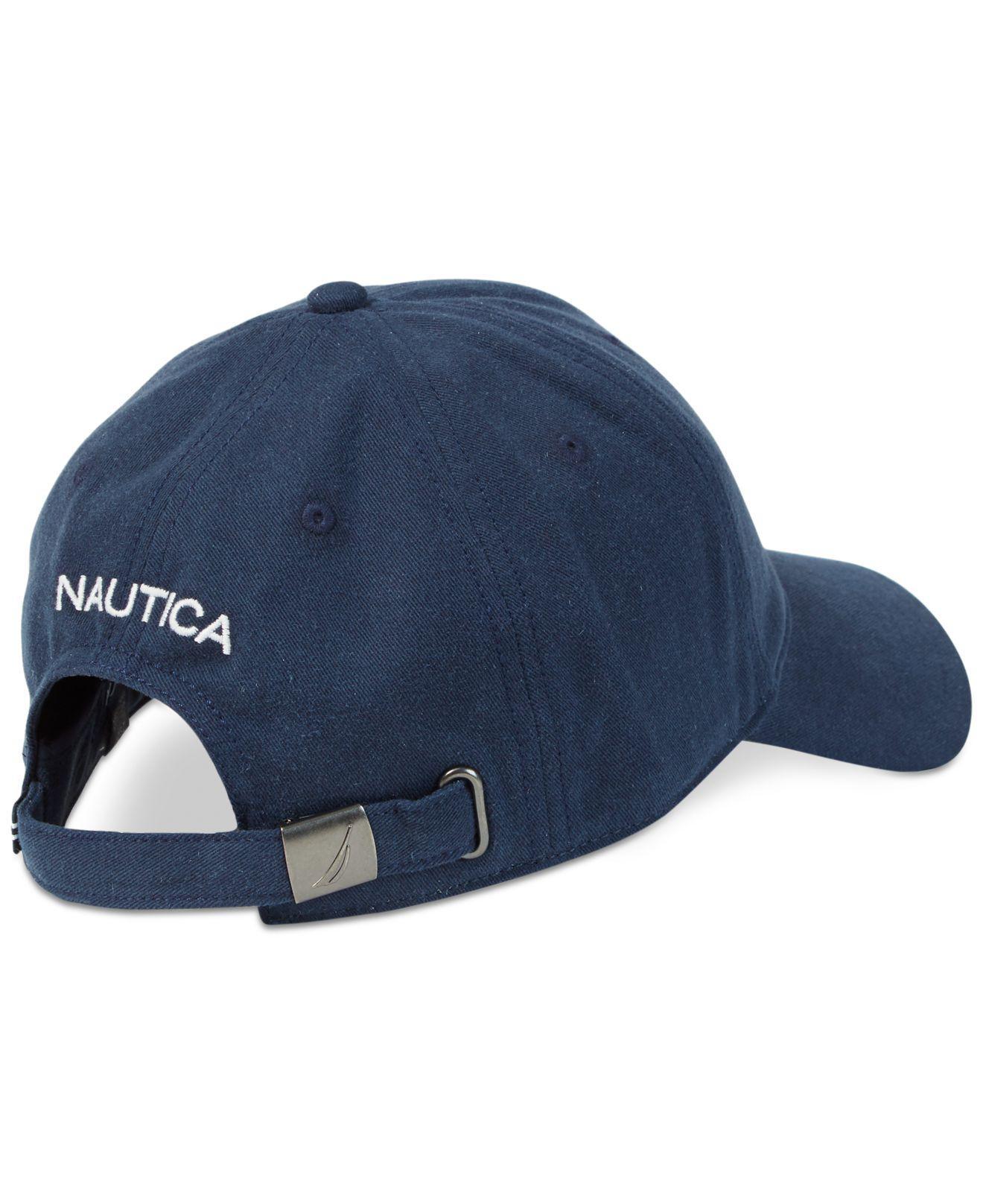 30bcfb3442f00d Lyst - Nautica Logo Baseball Cap in Blue for Men