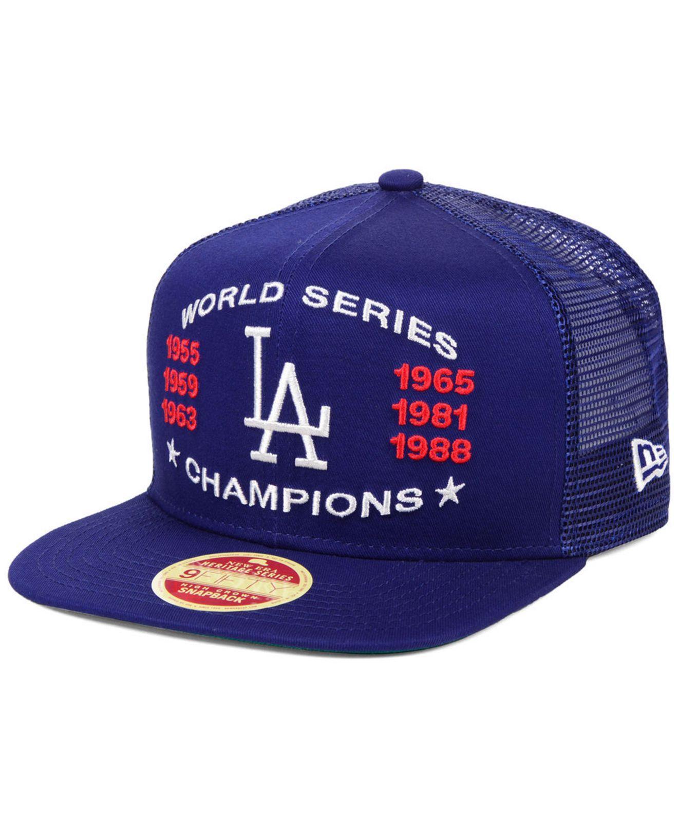 0b00311ba0798 KTZ. Men s Blue Los Angeles Dodgers Team Front Trucker 9fifty Snapback Cap