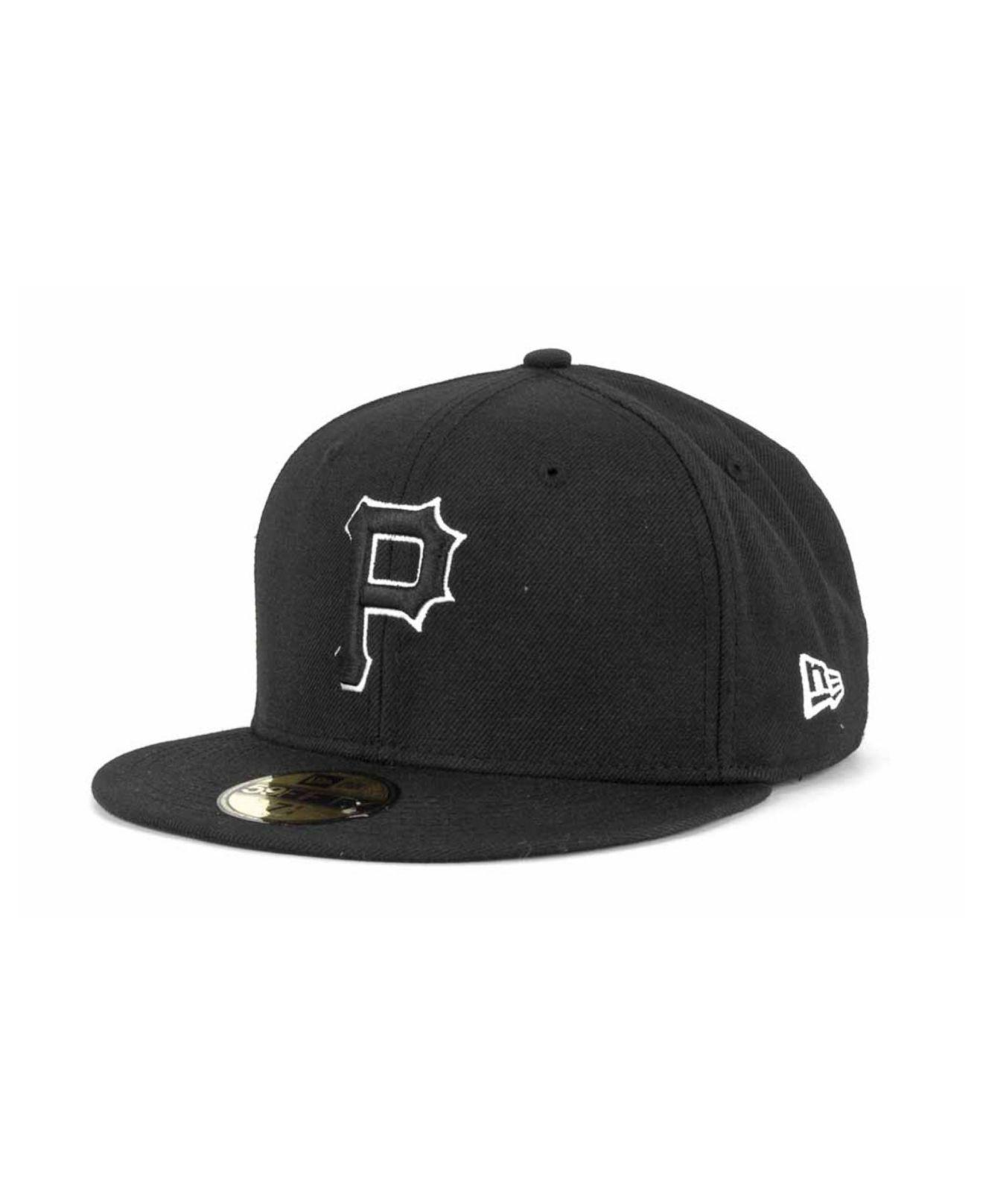 reputable site 1c1e5 b35f8 KTZ. Men s Pittsburgh Pirates Black And White Fashion 59fifty Cap