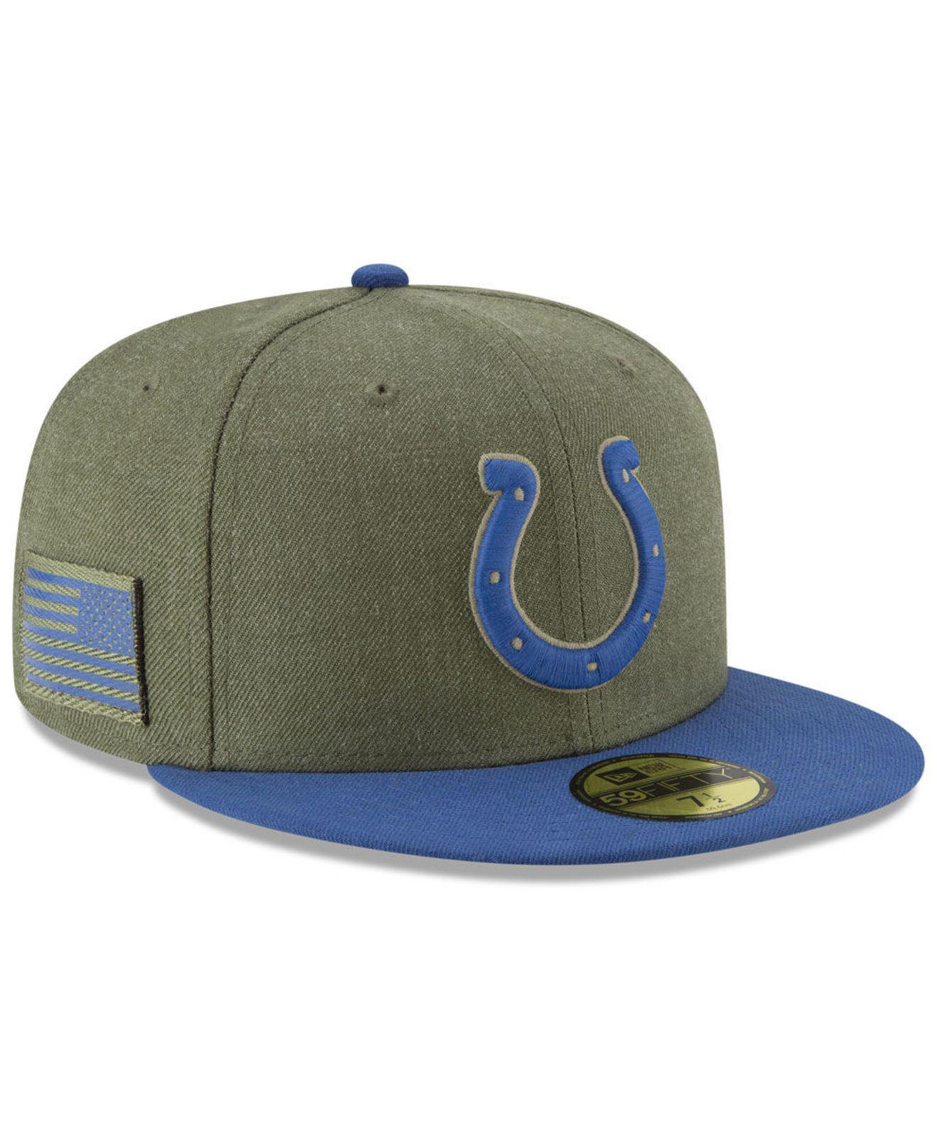 effb0669 Lyst - KTZ Indianapolis Colts Salute To Service 59fifty Fitted Cap ...