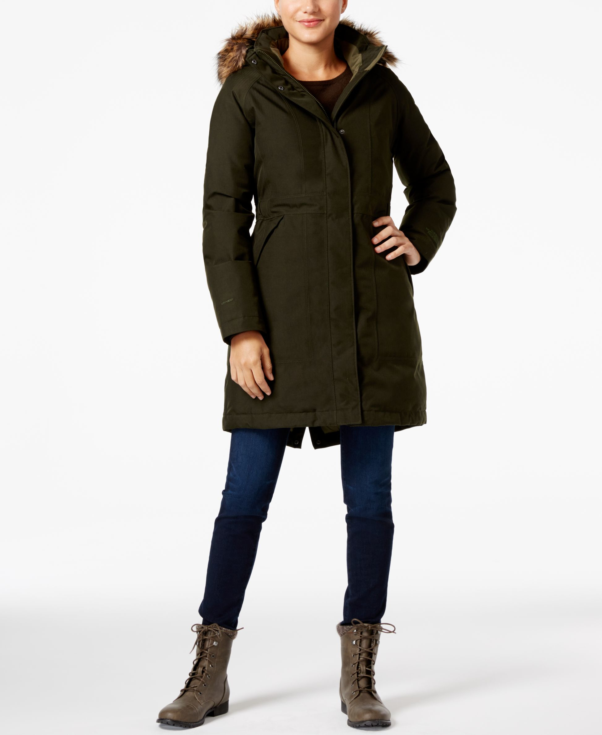 the north face arctic down parka in black lyst. Black Bedroom Furniture Sets. Home Design Ideas
