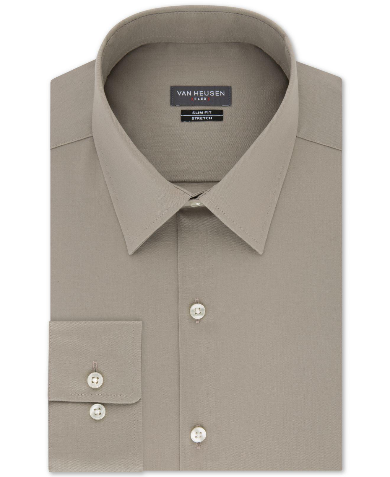 Lyst Van Heusen Slim Fit Flex Collar Stretch Solid Dress Shirt For Men