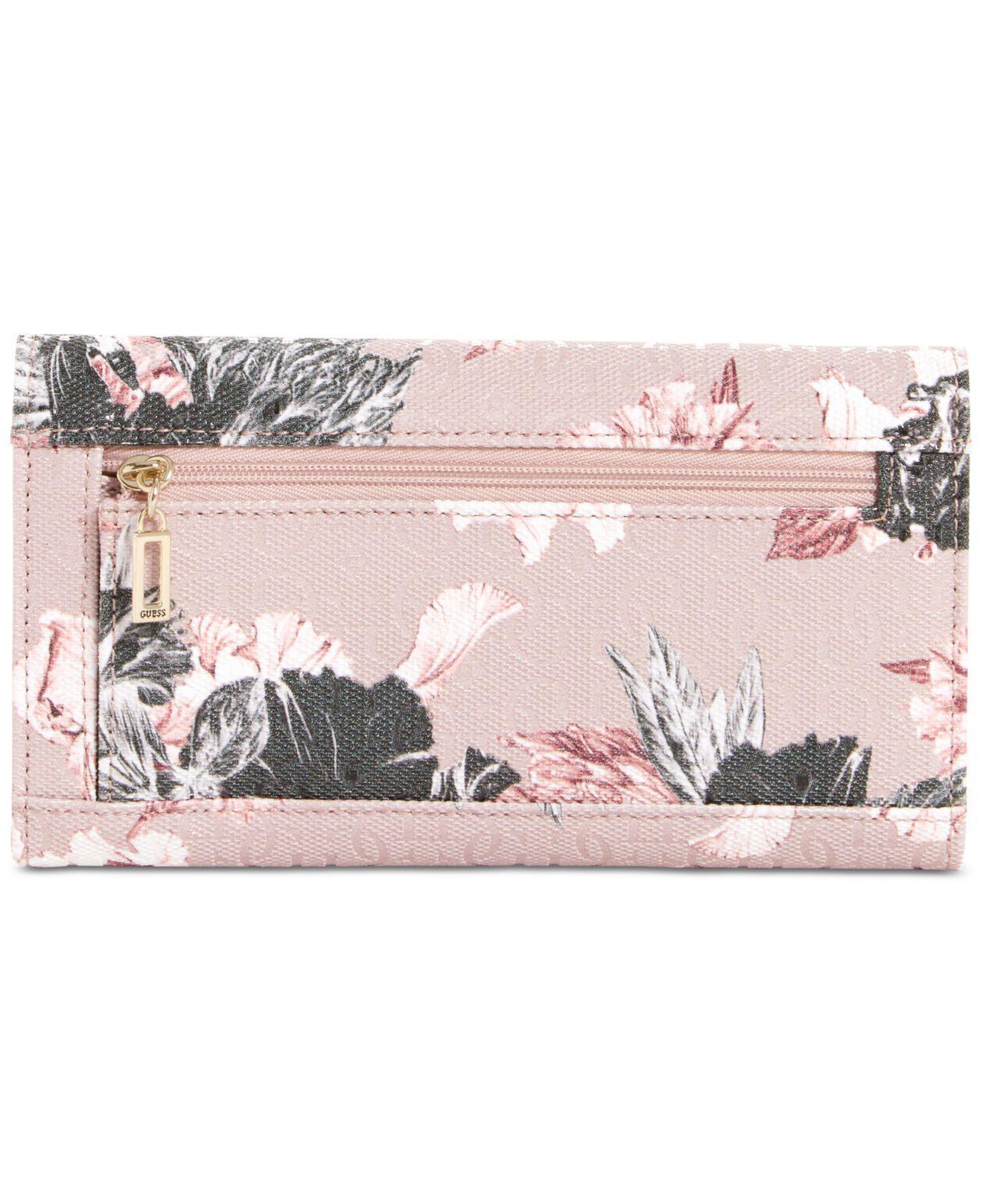 In Slim Clutch Lyst Guess Wallet Pink Halley ZAAnXH 7088a7ecf759a