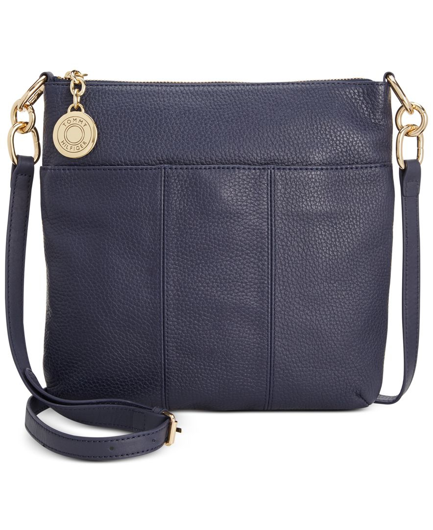 Tommy Hilfiger Th Signature Pebble Leather Crossbody In