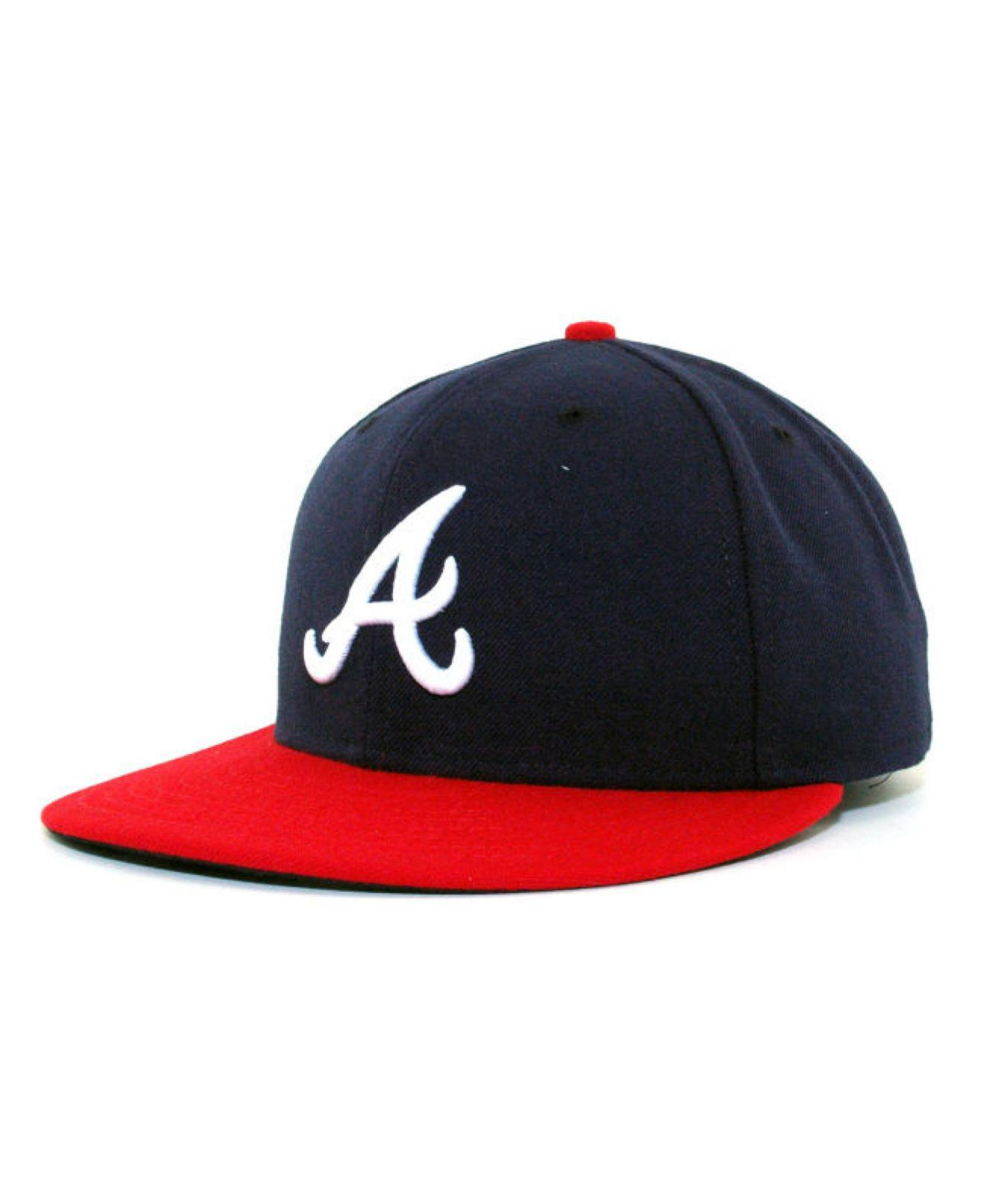 ea6e5a32ff1 Lyst - KTZ Atlanta Braves Mlb Authentic Collection 59fifty Cap in ...