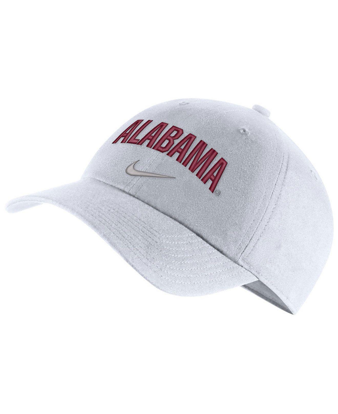 size 40 f0b90 2d076 Nike. Men s White Alabama Crimson Tide H86 Wordmark Swoosh Cap
