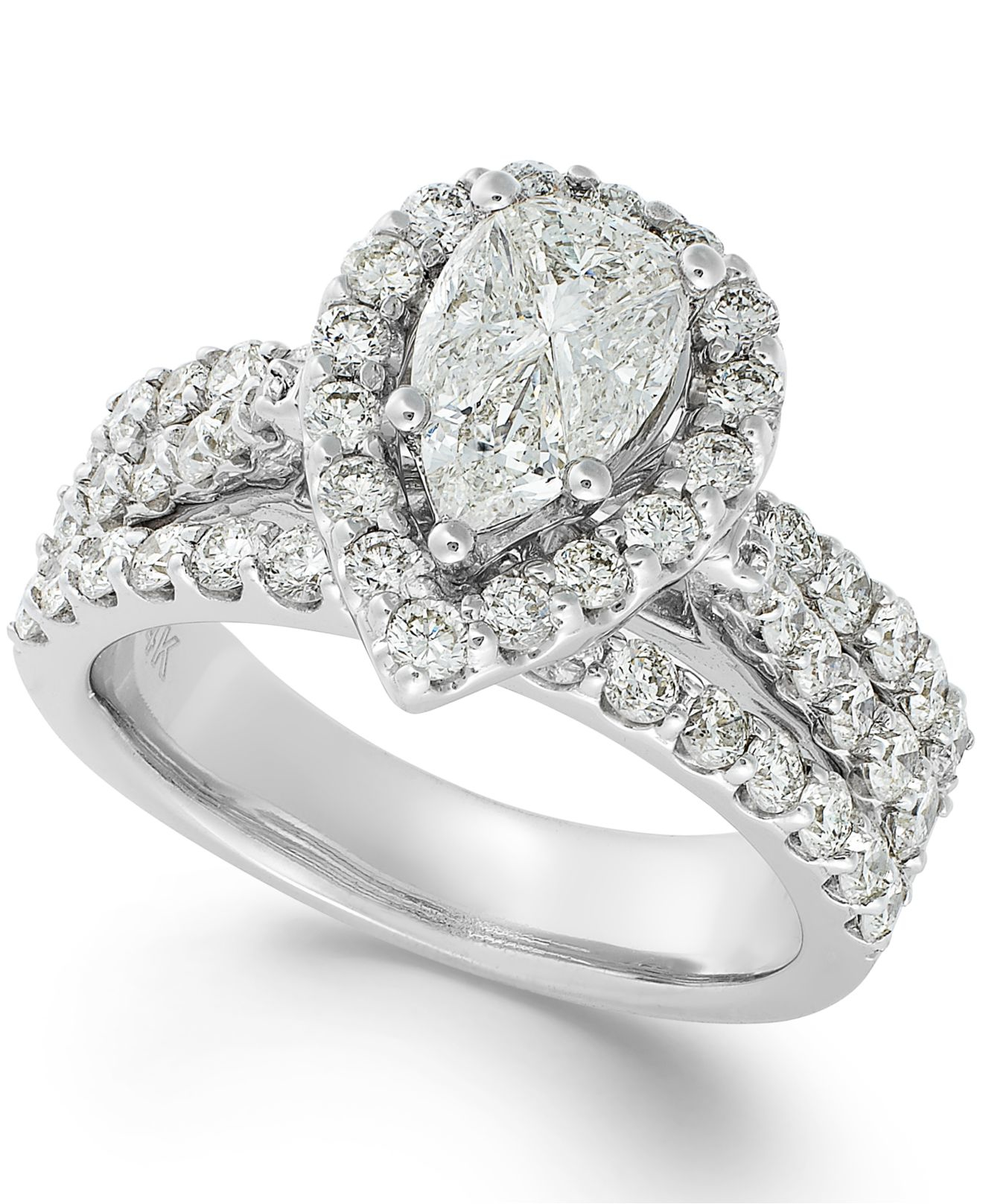 Macy'S Diamond Engagement Ring In 14k White Gold (2