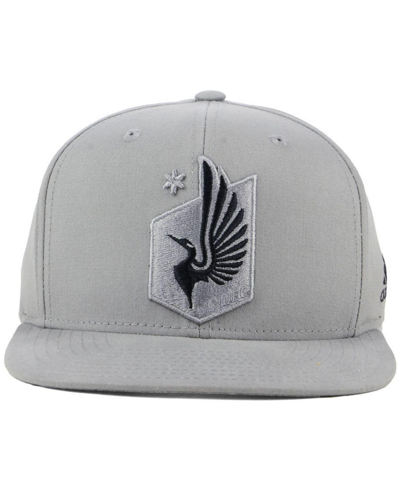 1ed0678ace314 ... top quality lyst adidas minnesota united fc gray snapback cap in gray  for men 14bb5 172d3