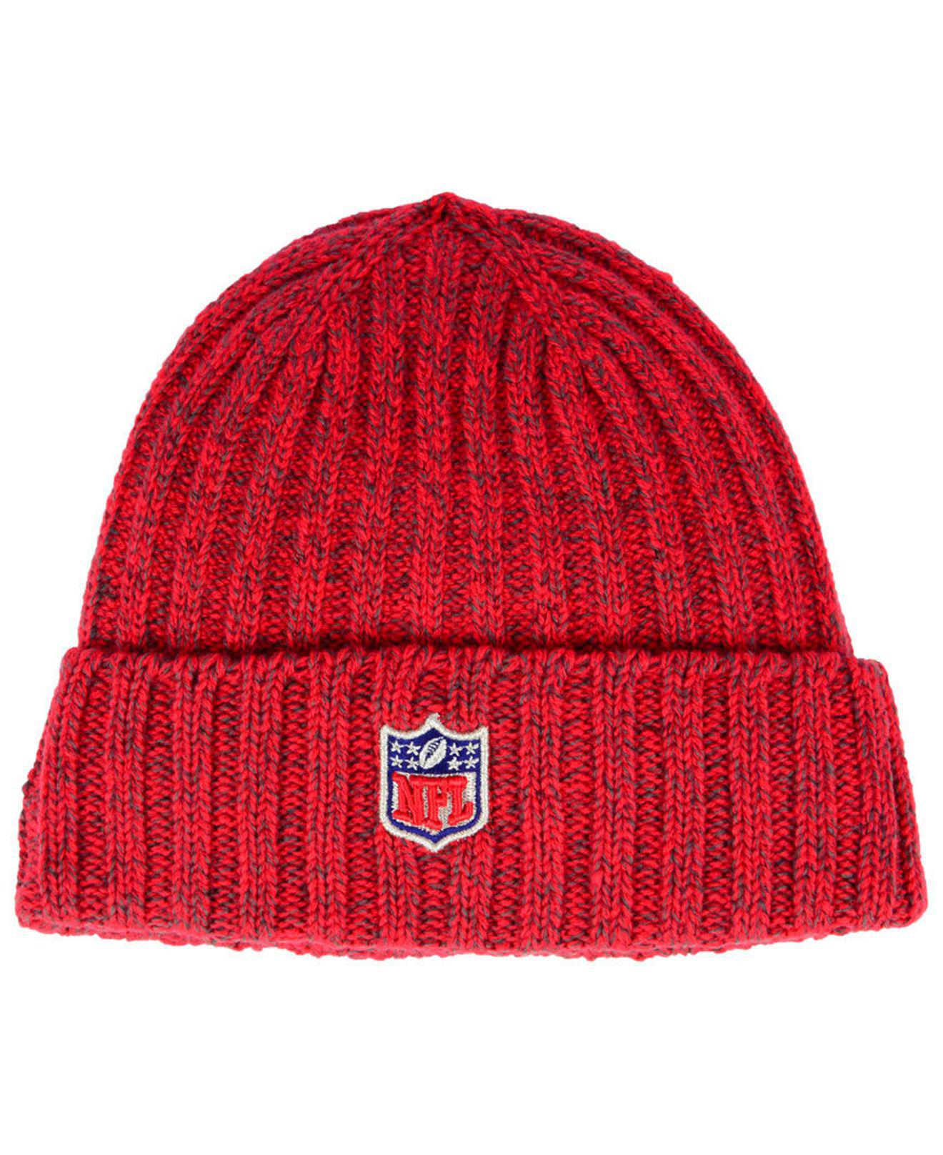 on sale 67393 d515b Lyst - KTZ Tampa Bay Buccaneers On Field Knit Hat in Red