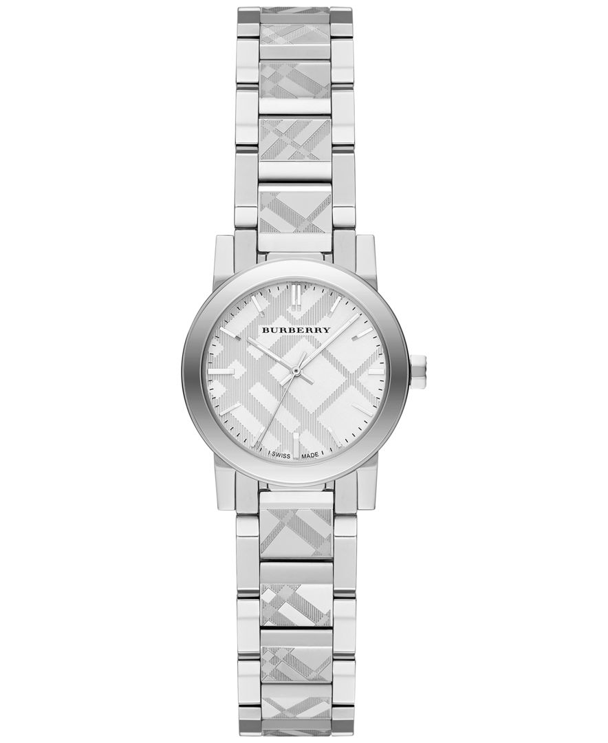 burberry s swiss stainless steel bracelet 26mm