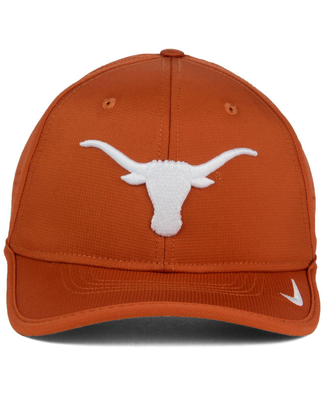 964b92c2a2b new zealand lyst nike texas longhorns vapor sideline coaches cap in orange  for men e0dbc ce3cb