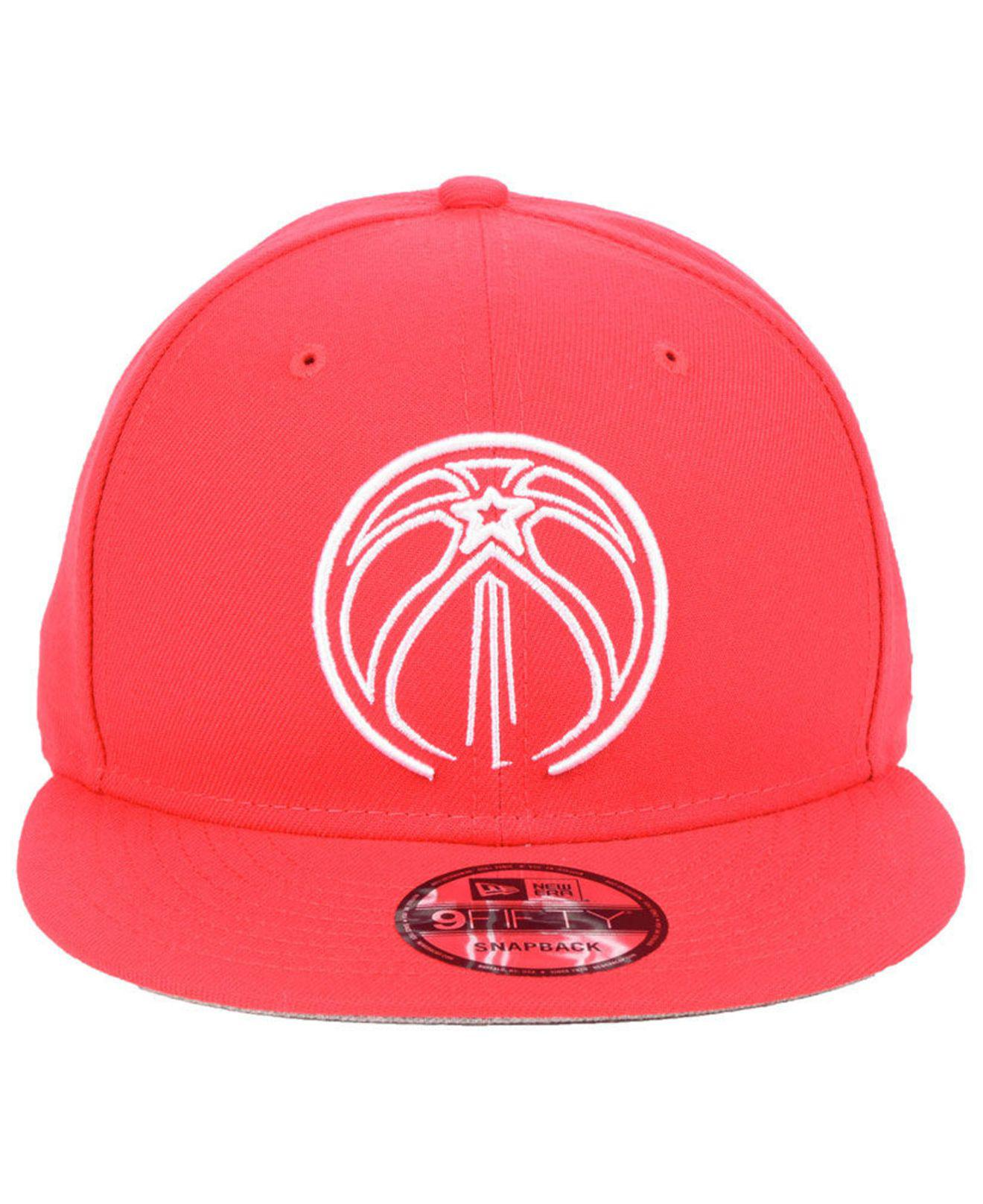 bea61f4a856c2 Lyst - KTZ Washington Wizards Logo Trace 9fifty Snapback Cap in Red for Men
