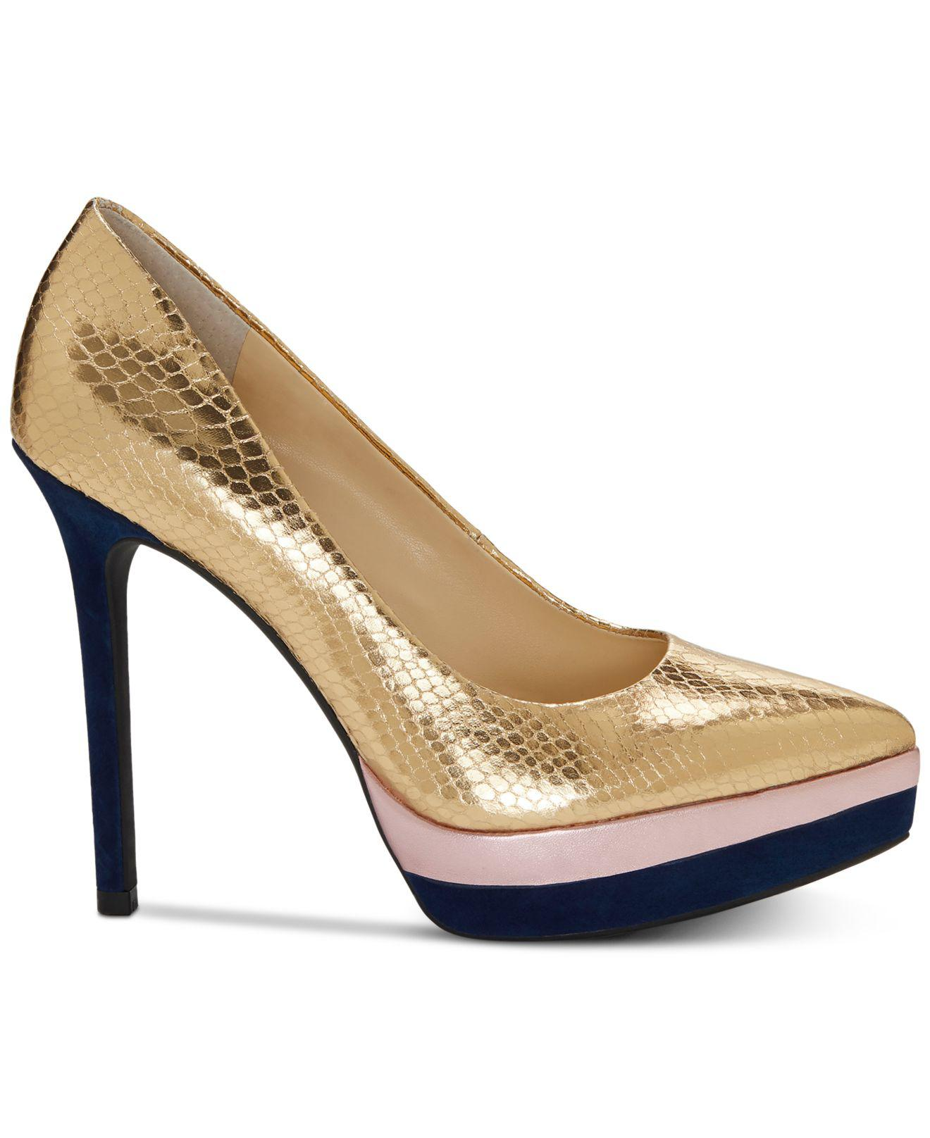 1b78d86d954 Lyst - Jessica Simpson Loyren Pumps in Metallic