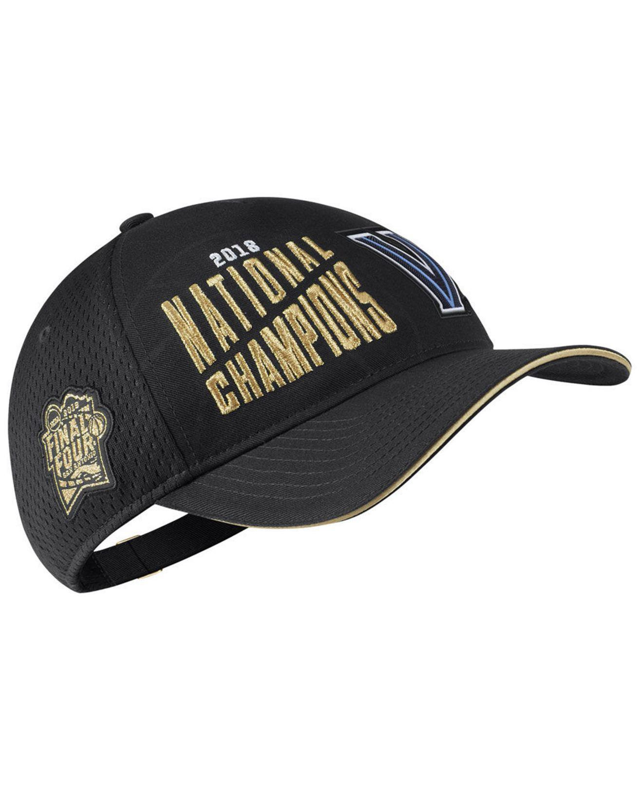 ... reduced lyst nike villanova wildcats basketball national champs cap in  black for men save 53.125 45fa7 41a197840265