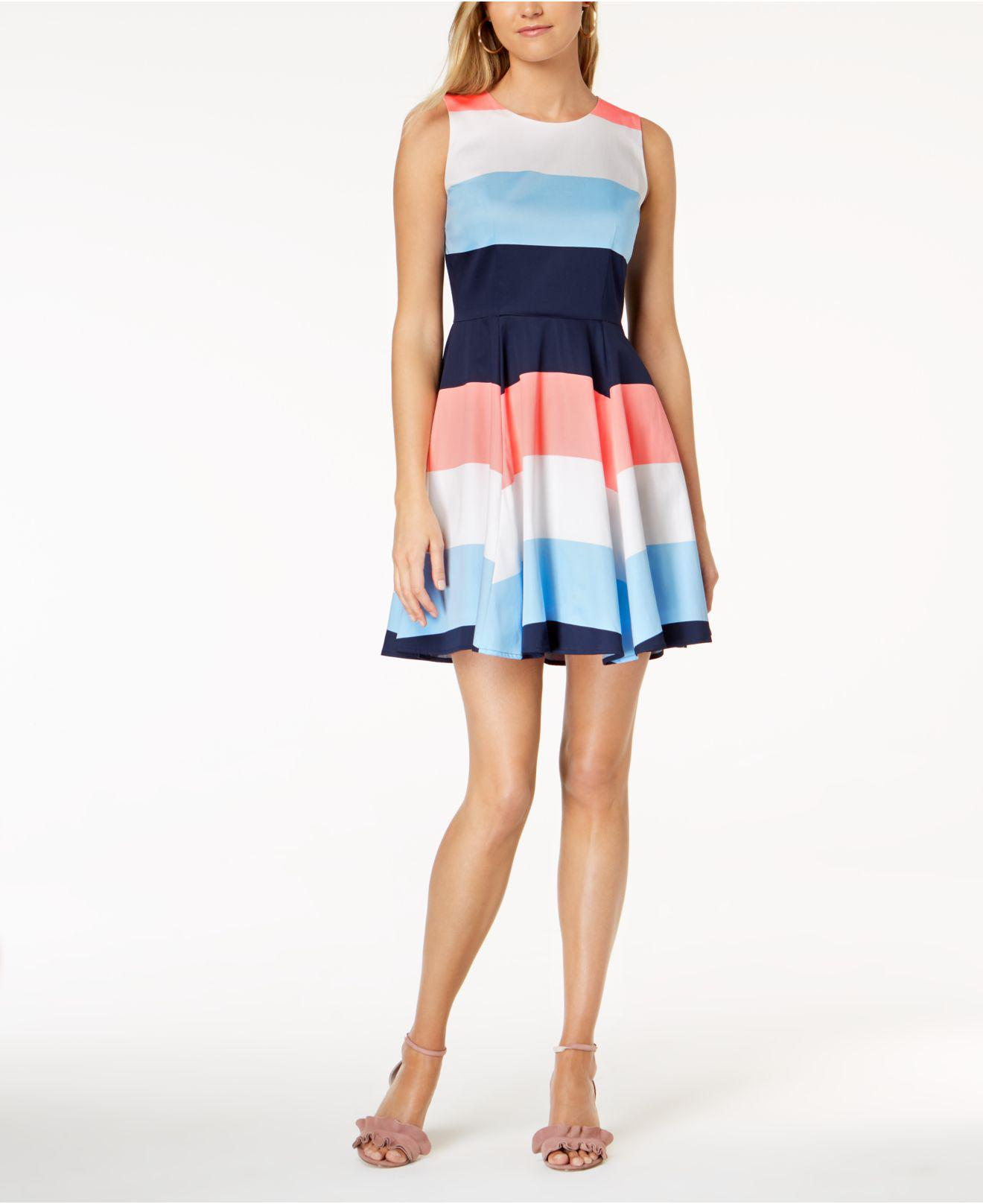 fe5b928a5290 Lyst - Maison Jules Colorblocked Fit   Flare Dress