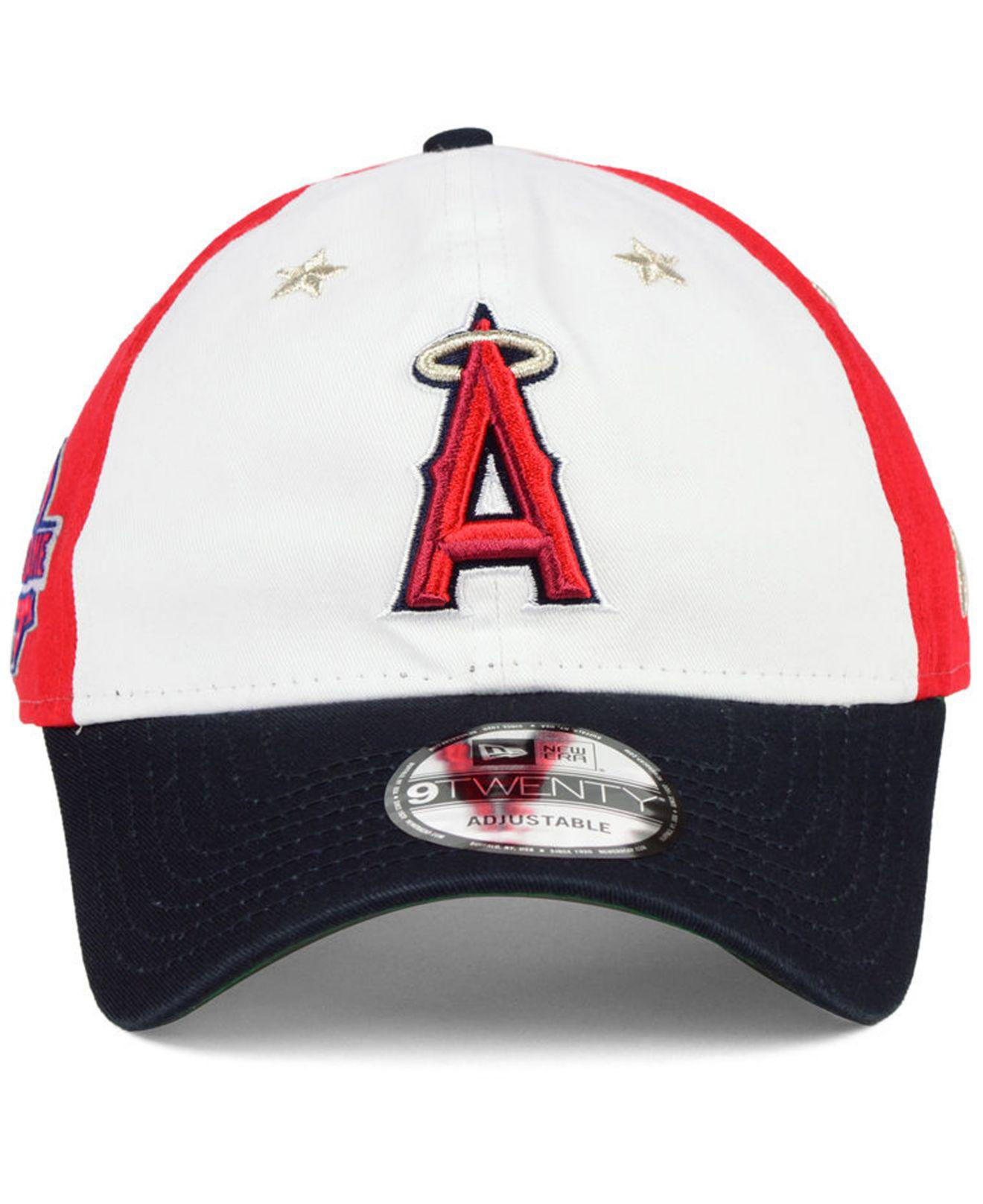 new product d35d7 72e52 ... best lyst ktz los angeles angels all star game 9twenty strapback cap  2018 in red for