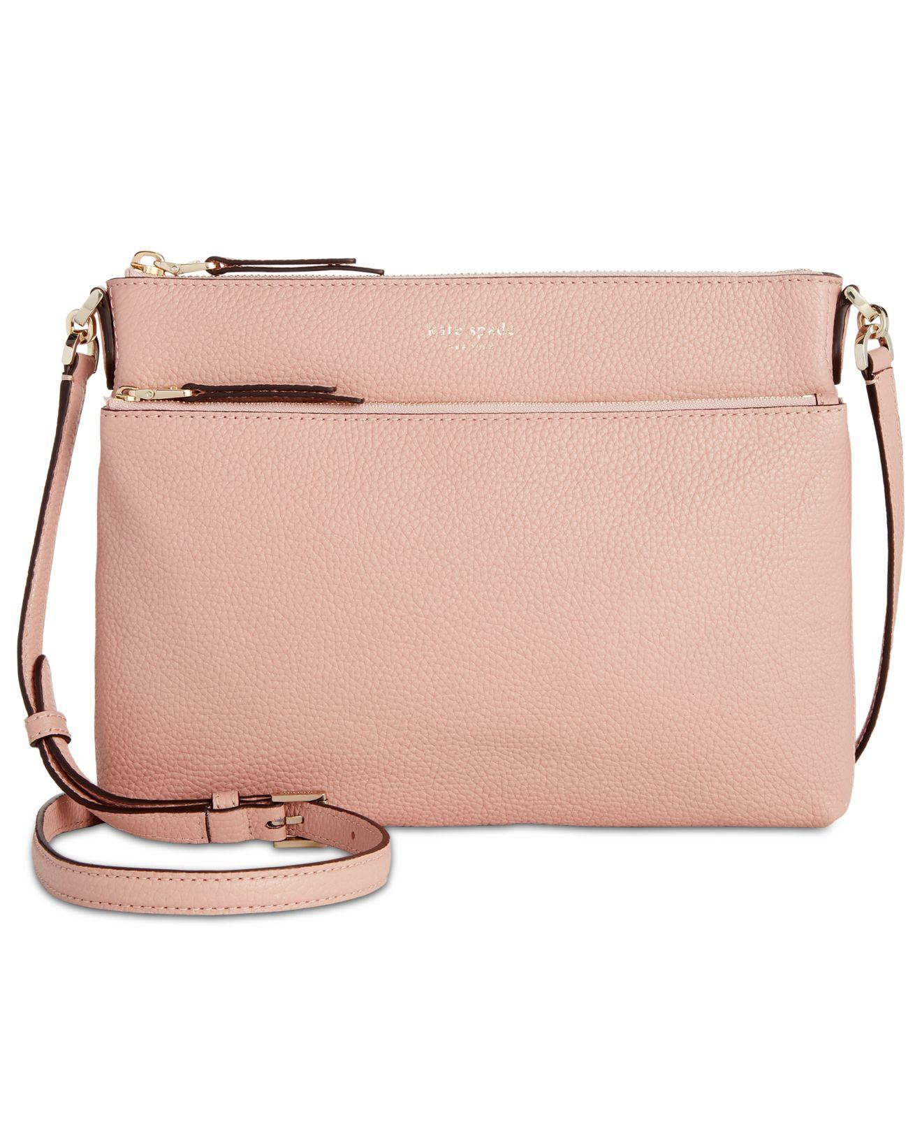 65e3cb05958d Lyst - Kate Spade Polly Crossbody in Pink