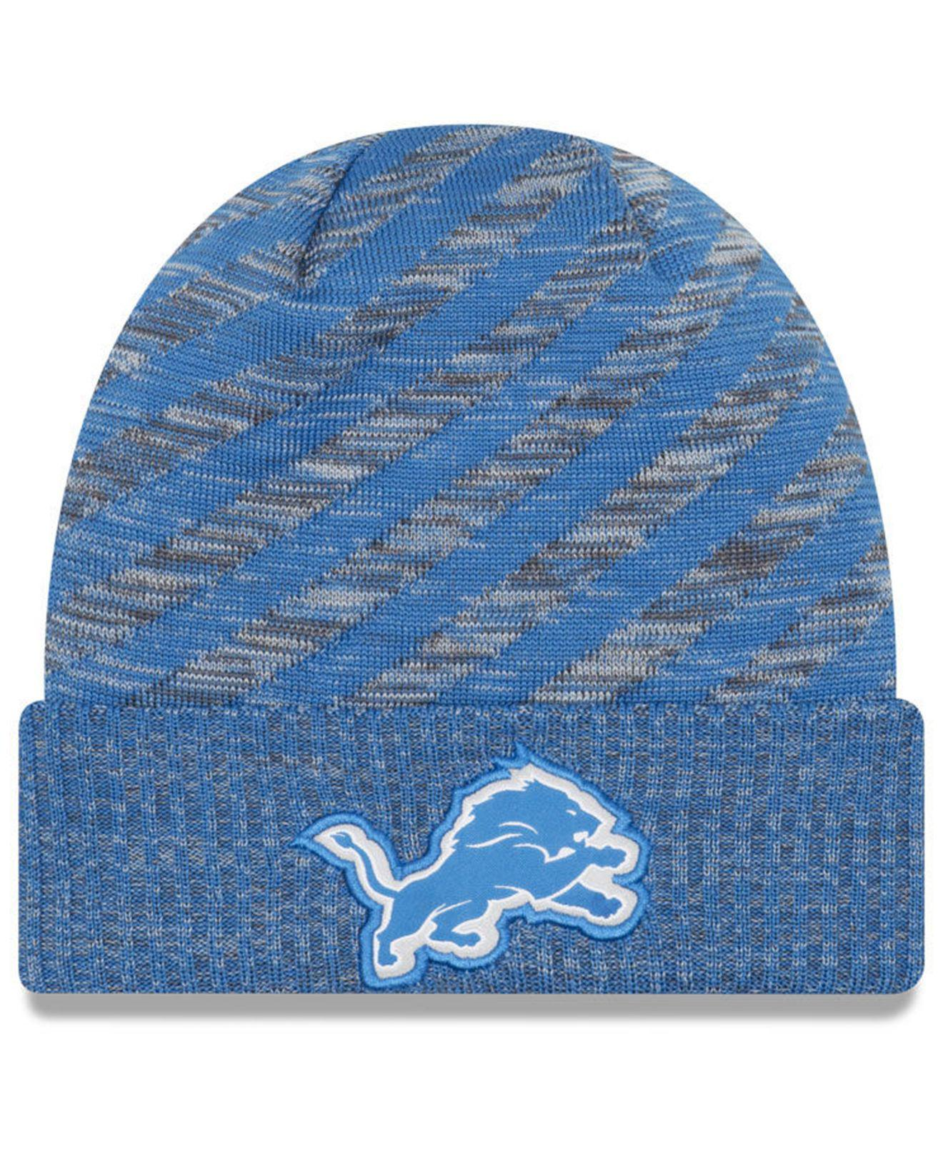 Lyst - Ktz Detroit Lions Touch Down Knit Hat in Blue for Men 99943f890