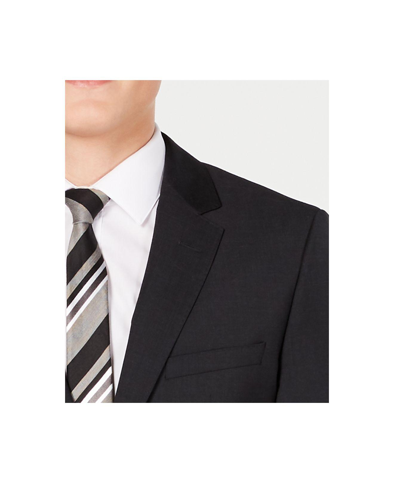 eb73935e BOSS - Gray Slim-fit Stepweave Suit Jacket for Men - Lyst. View fullscreen