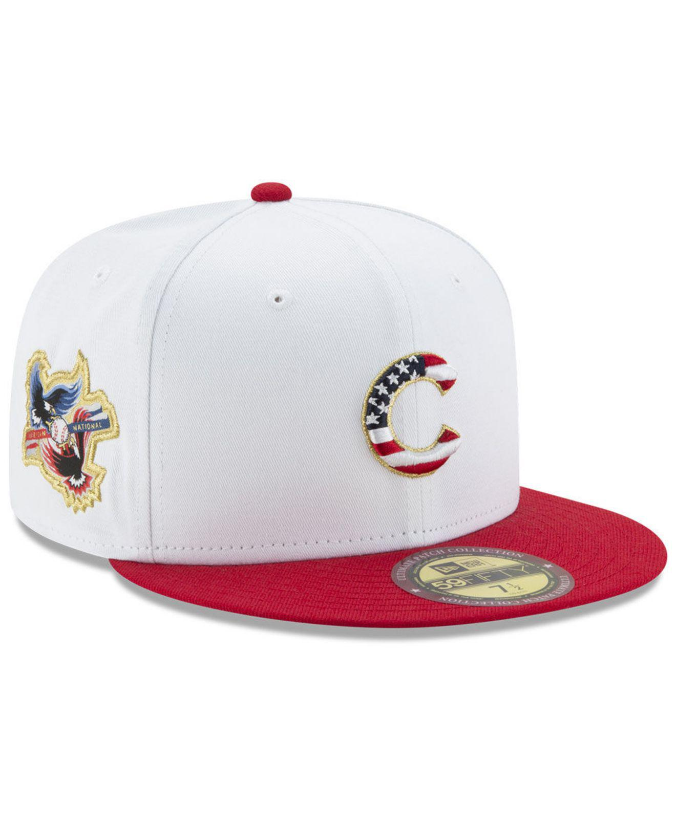 competitive price ec59c 2f73d KTZ Americana Ultimate Patch Collection 59fifty Cap in White for Men ...