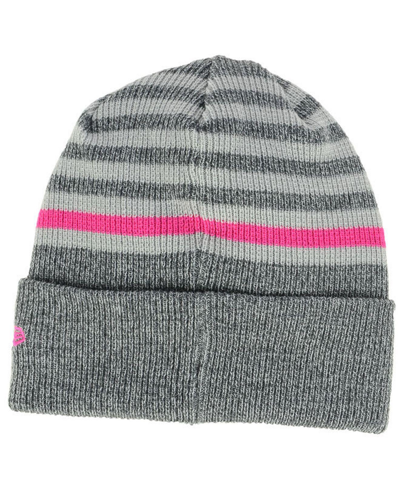 b5fb9d40f81f51 canada lyst ktz indiana pacers striped cuff knit hat in gray for men 88036  ec5dc
