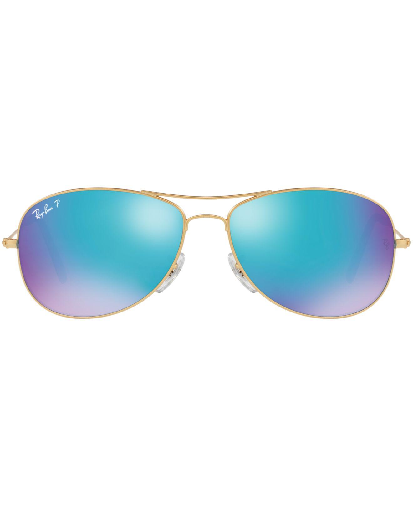 b1cd90476f Lyst - Ray-Ban Polarized Chromance Collection Sunglasses