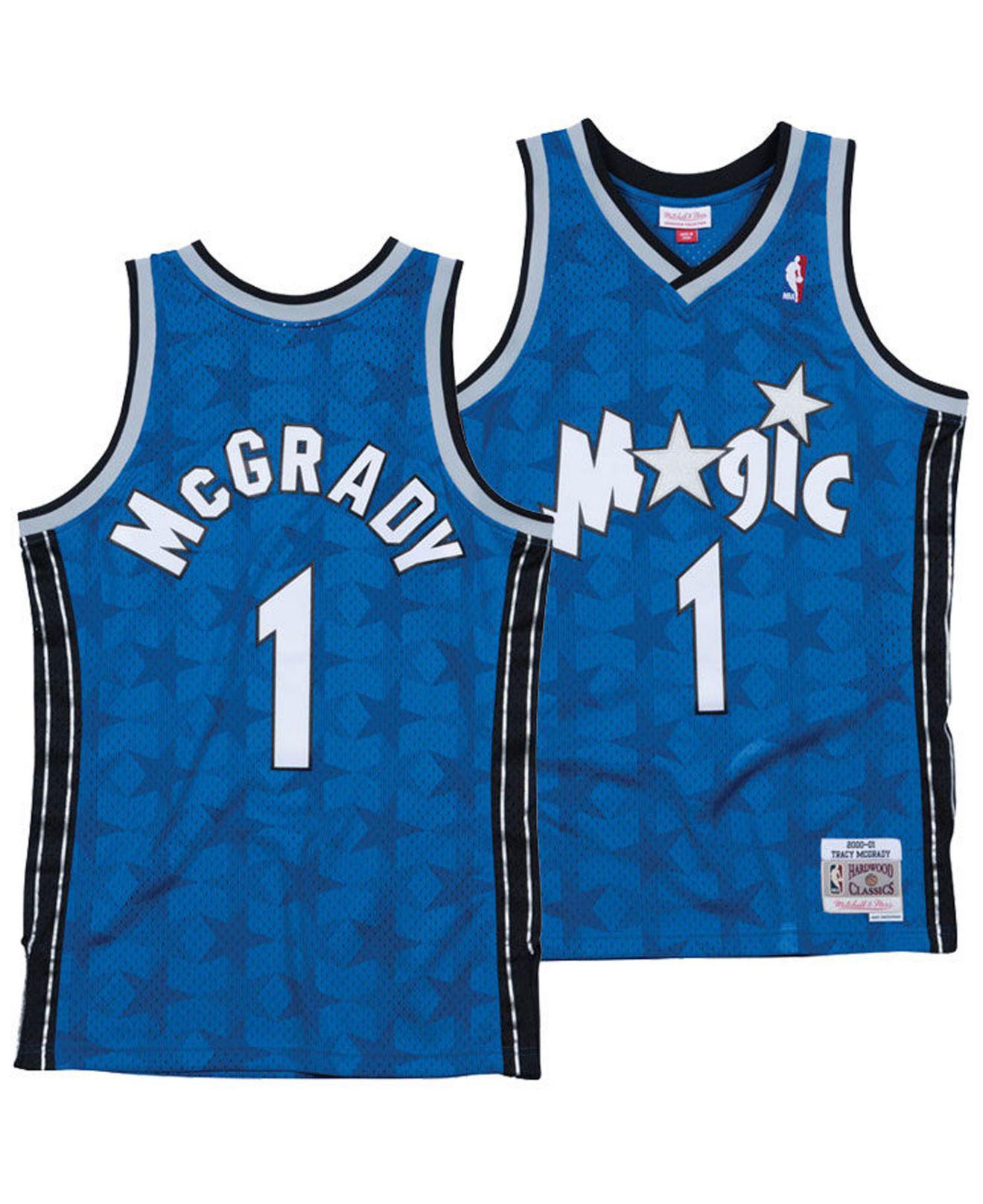 7ed5e6db152 Mitchell   Ness. Men s Blue Tracy Mcgrady Orlando Magic Hardwood Classic  Swingman Jersey .