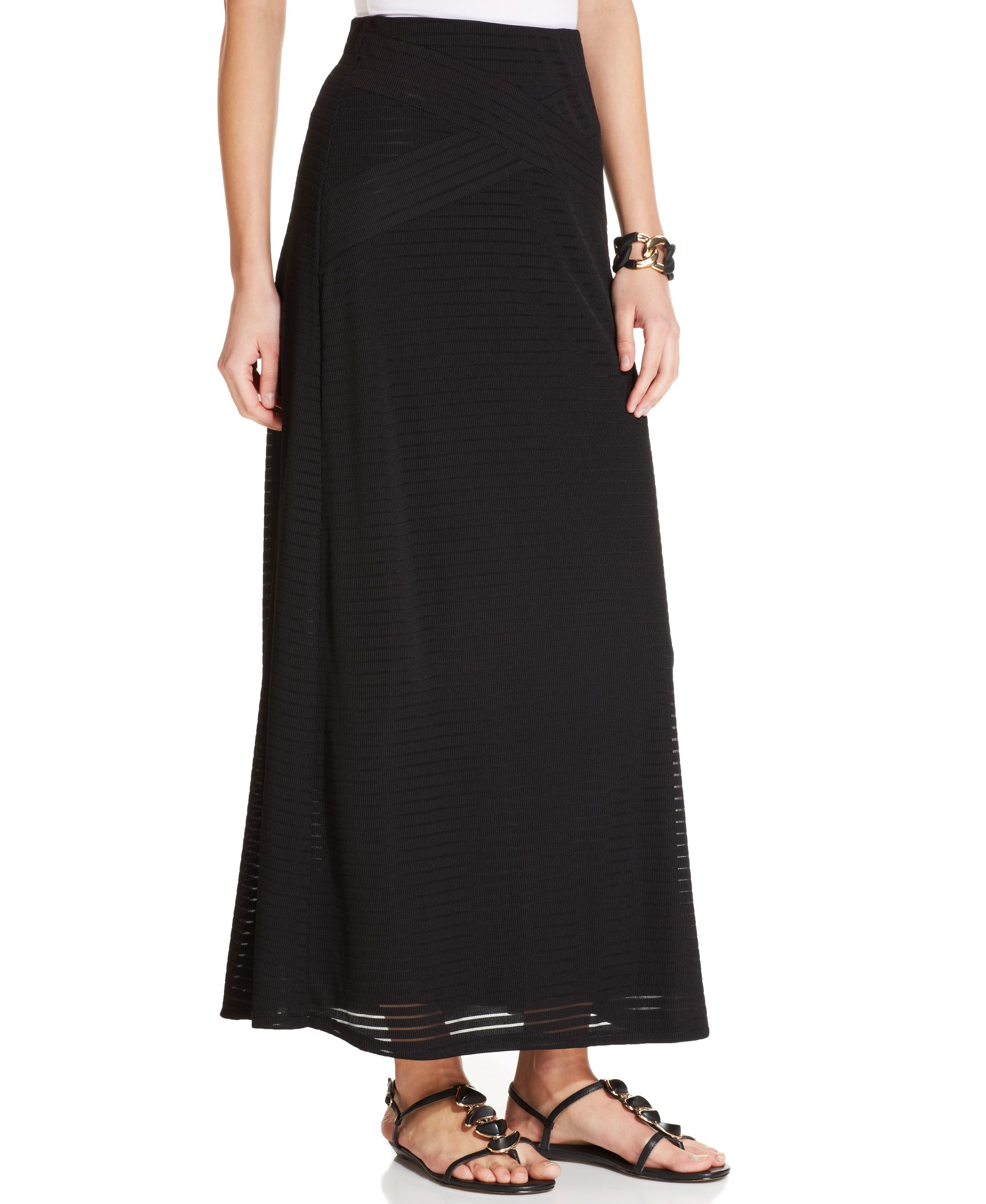 eci ribbed a line maxi skirt in black lyst
