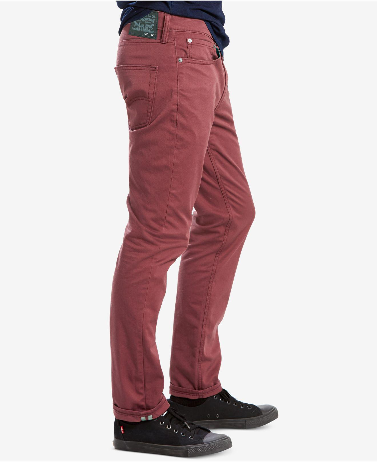 cb79e50d Levi's 511 Slim-fit Commuter Jeans in Red for Men - Lyst