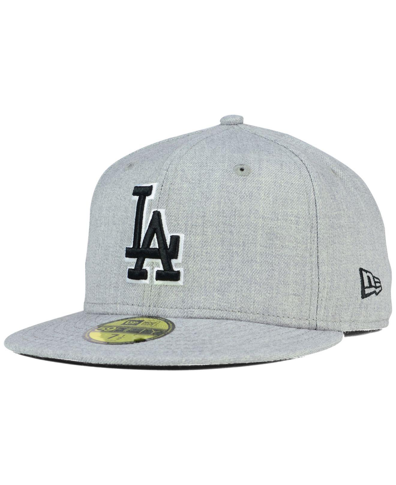 promo code 2c510 63e3a ... Los Angeles Dodgers Heather Black White 59fifty Cap for Men - Lyst. View  fullscreen