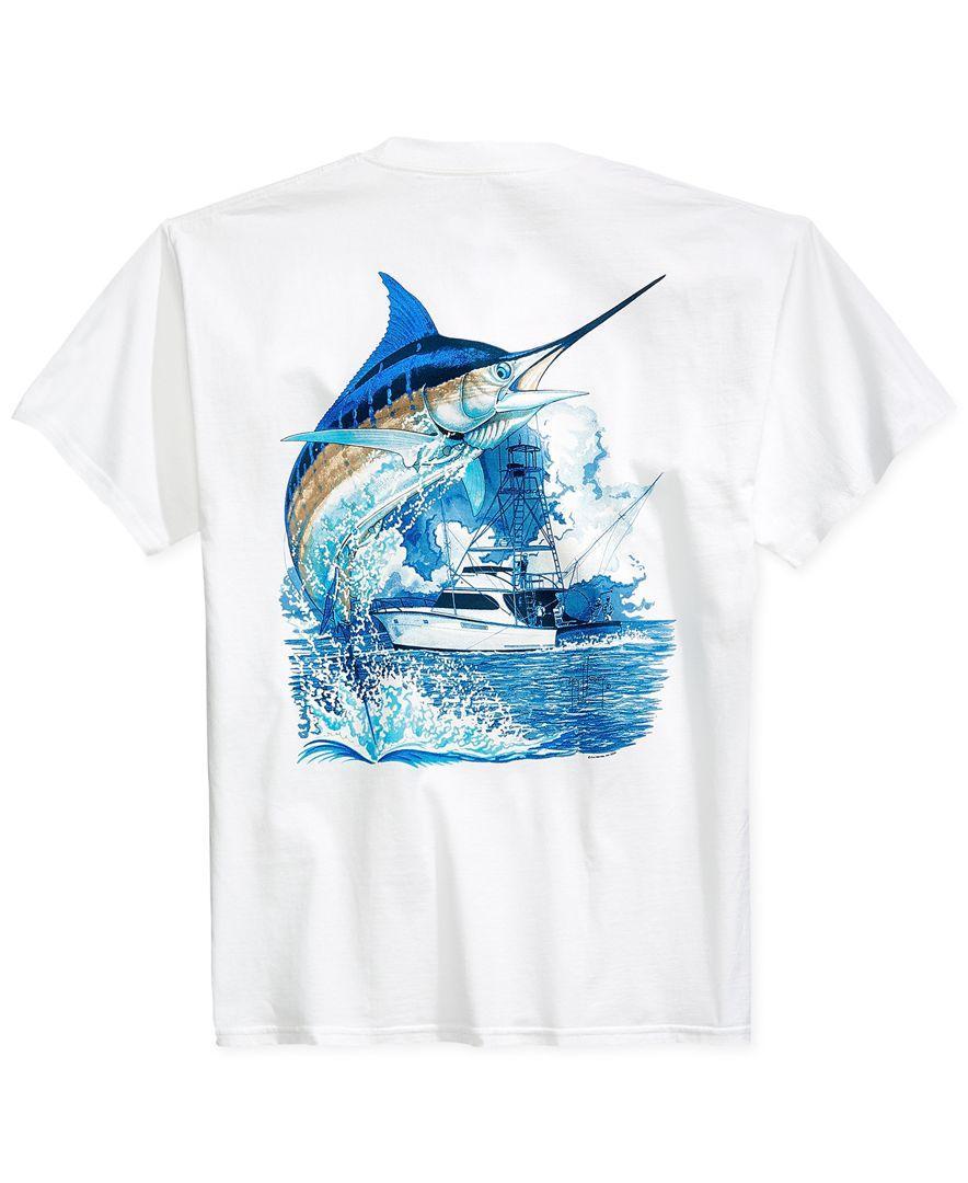 55ad28b162d4 Lyst - Guy Harvey Marlin Boat Pocket T-shirt in White for Men