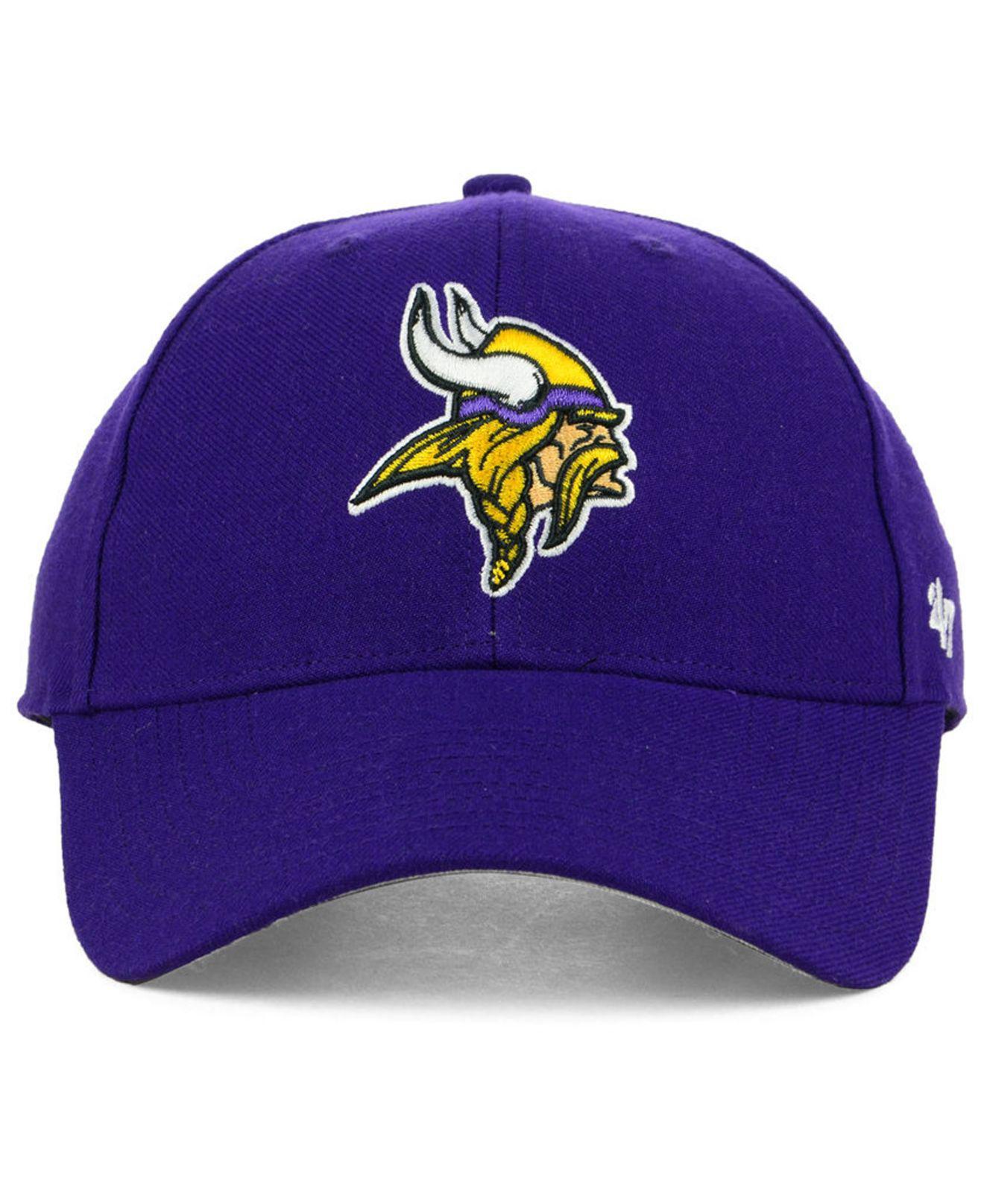 c2818653fe2 Lyst - 47 Brand Minnesota Vikings Mvp Cap in Purple for Men