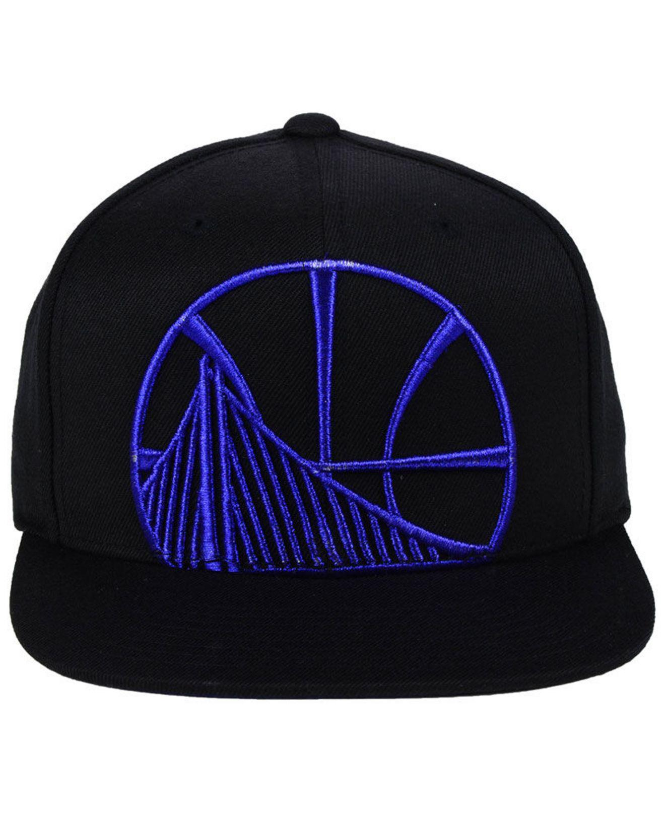 dc702c29c21 ... greece lyst mitchell ness golden state warriors metallic cropped snapback  cap in black for men 84d4d