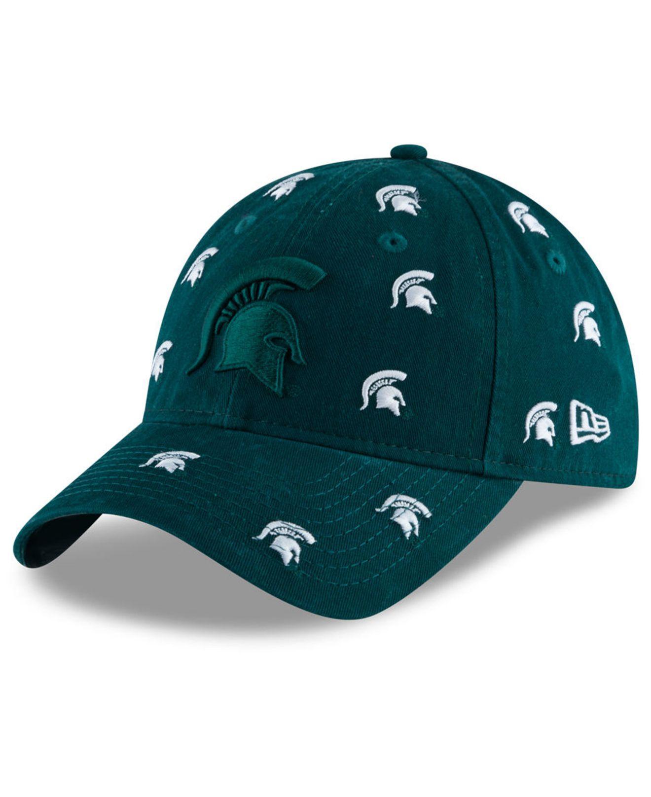 d21fd6a956eb0 KTZ - Green Michigan State Spartans Logo Scatter Cap - Lyst. View fullscreen