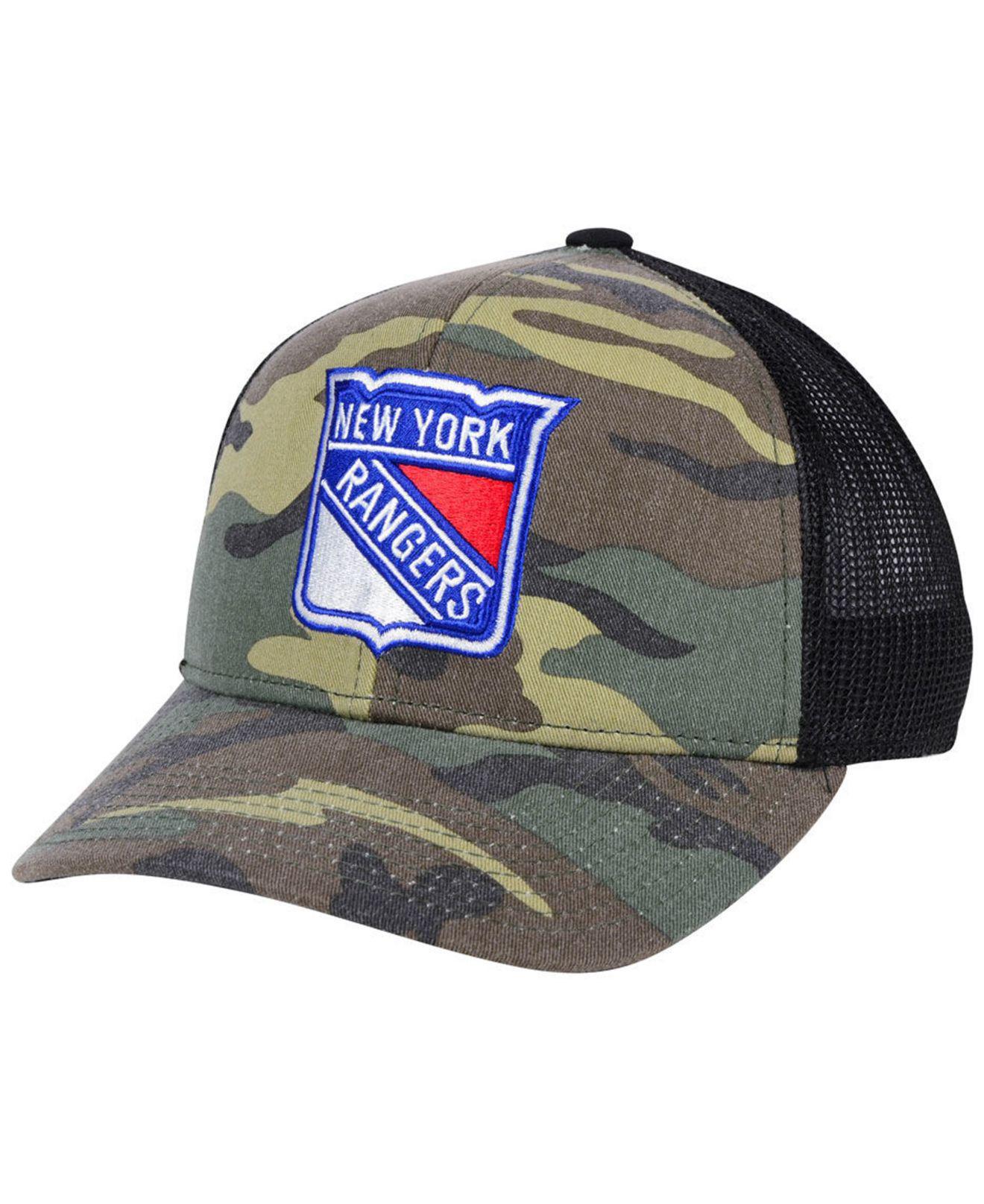 Lyst - adidas New York Rangers Camo Trucker Cap for Men 284116501