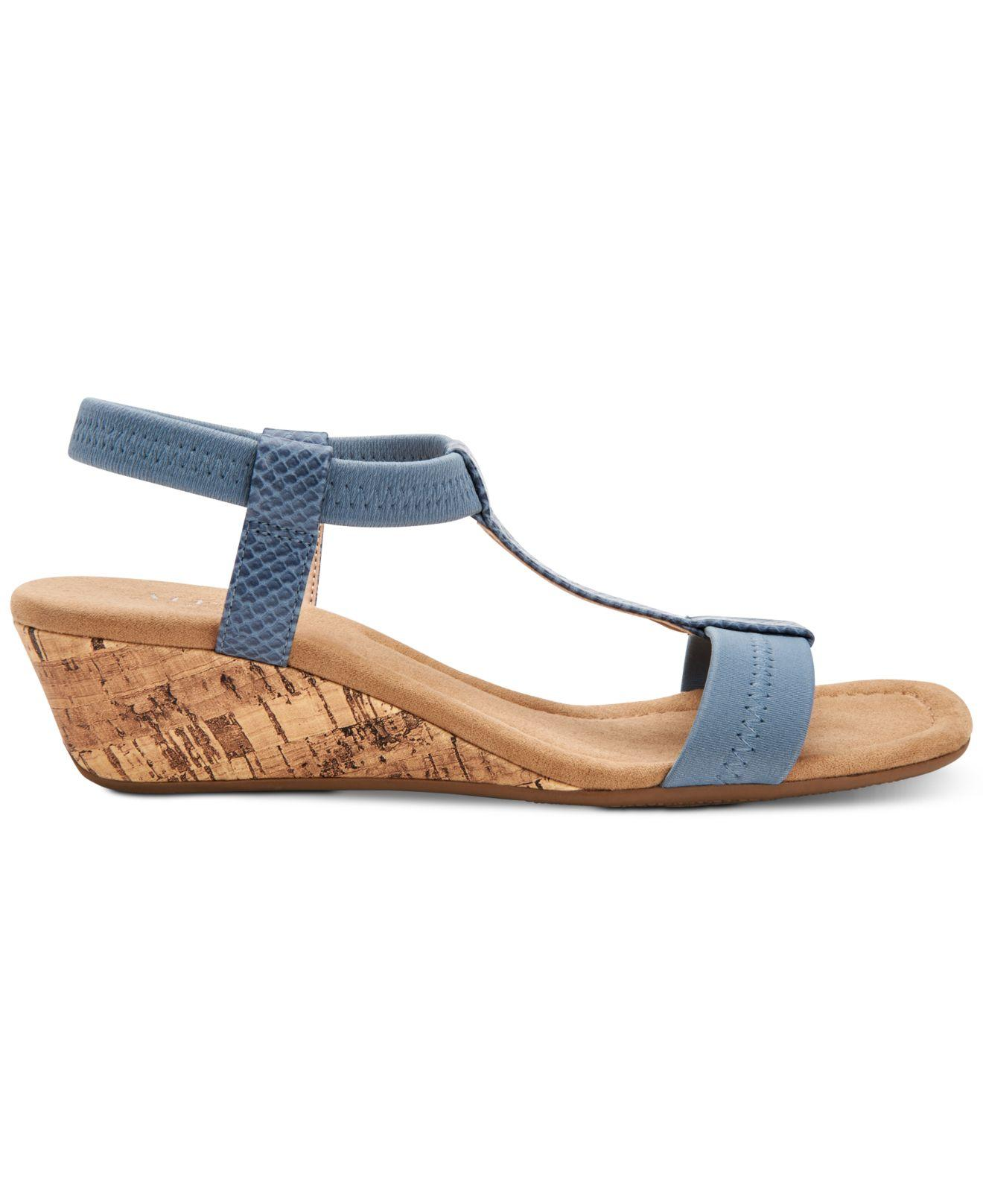 1ca951d91375 Lyst - Alfani Step  n Flex Voyage Wedge Sandals