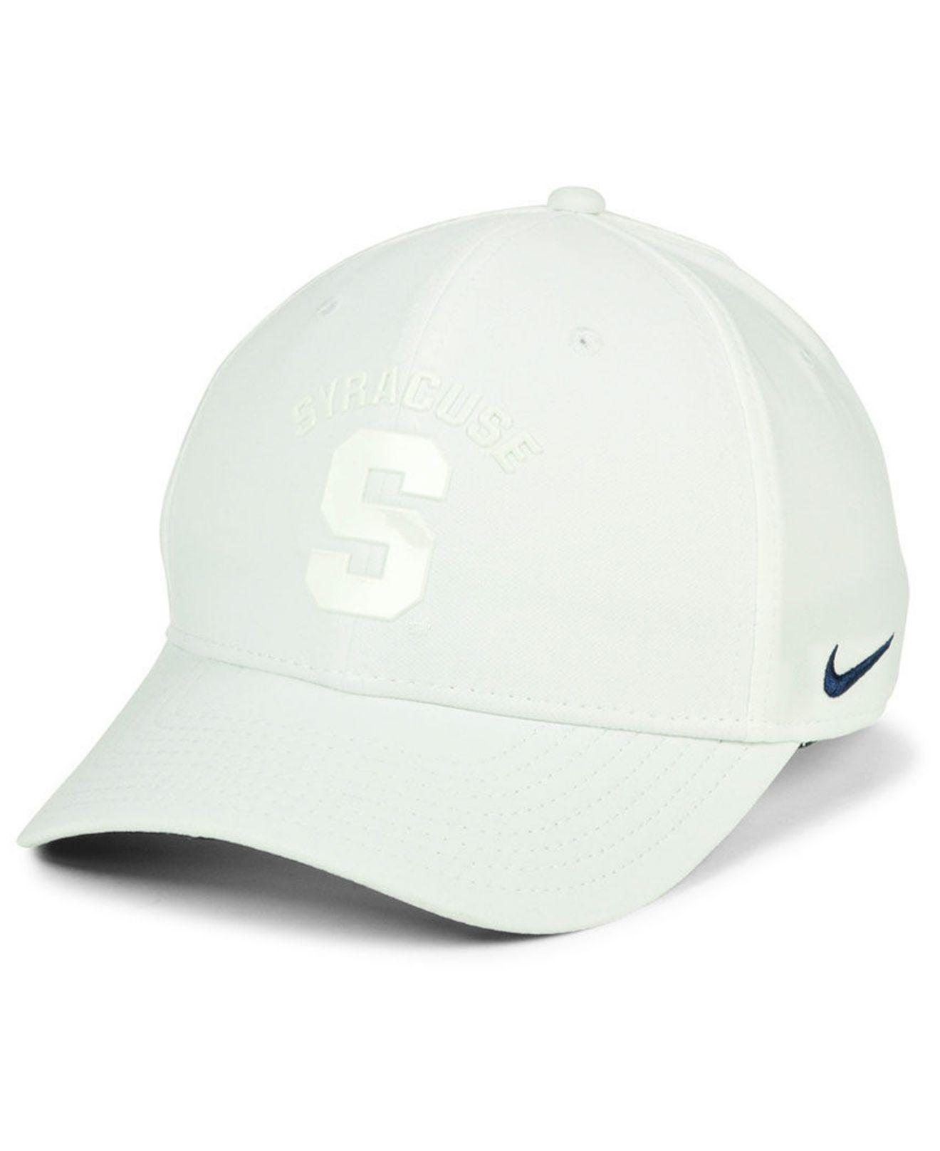 on sale 79527 a873e usa lyst nike syracuse orange col cap in white for men 989a4 80388