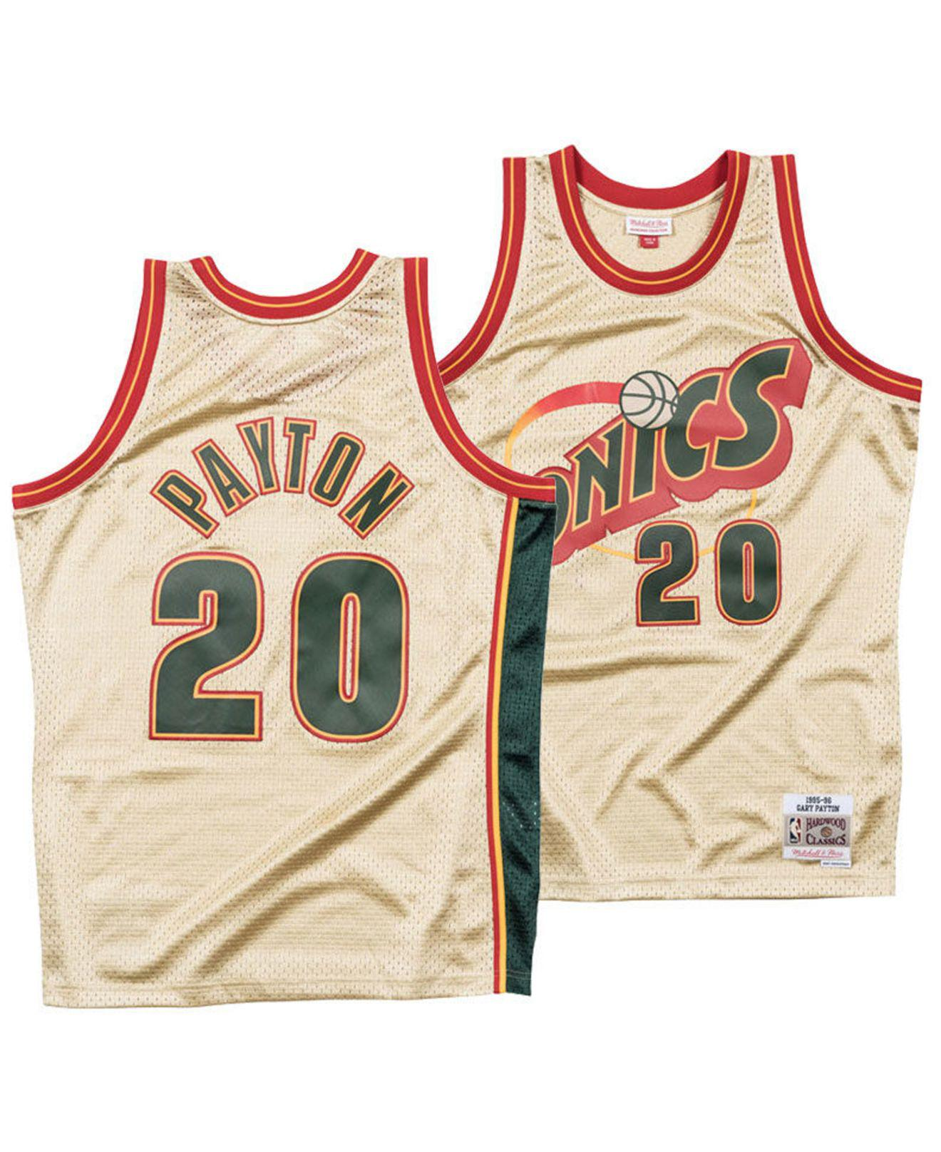 d47d935b9b9 Mitchell & Ness Gary Payton Seattle Supersonics Gold Collection ...