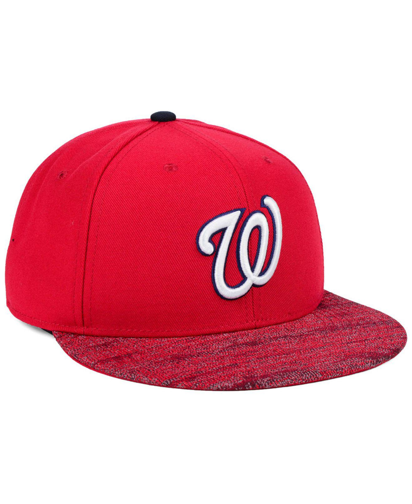 93264e18ef6b7 Lyst - Nike Washington Nationals Reverse New Day Snapback Cap in Red ...