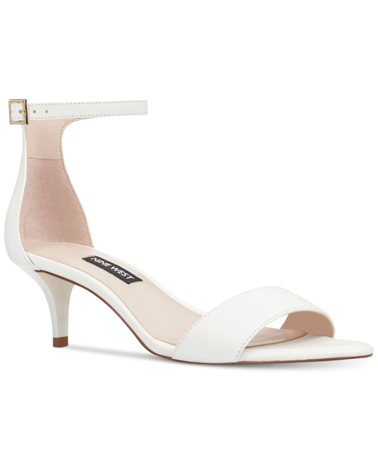 Nine West Leisa Two-Piece Kitten Heel Sandals Women's Shoes