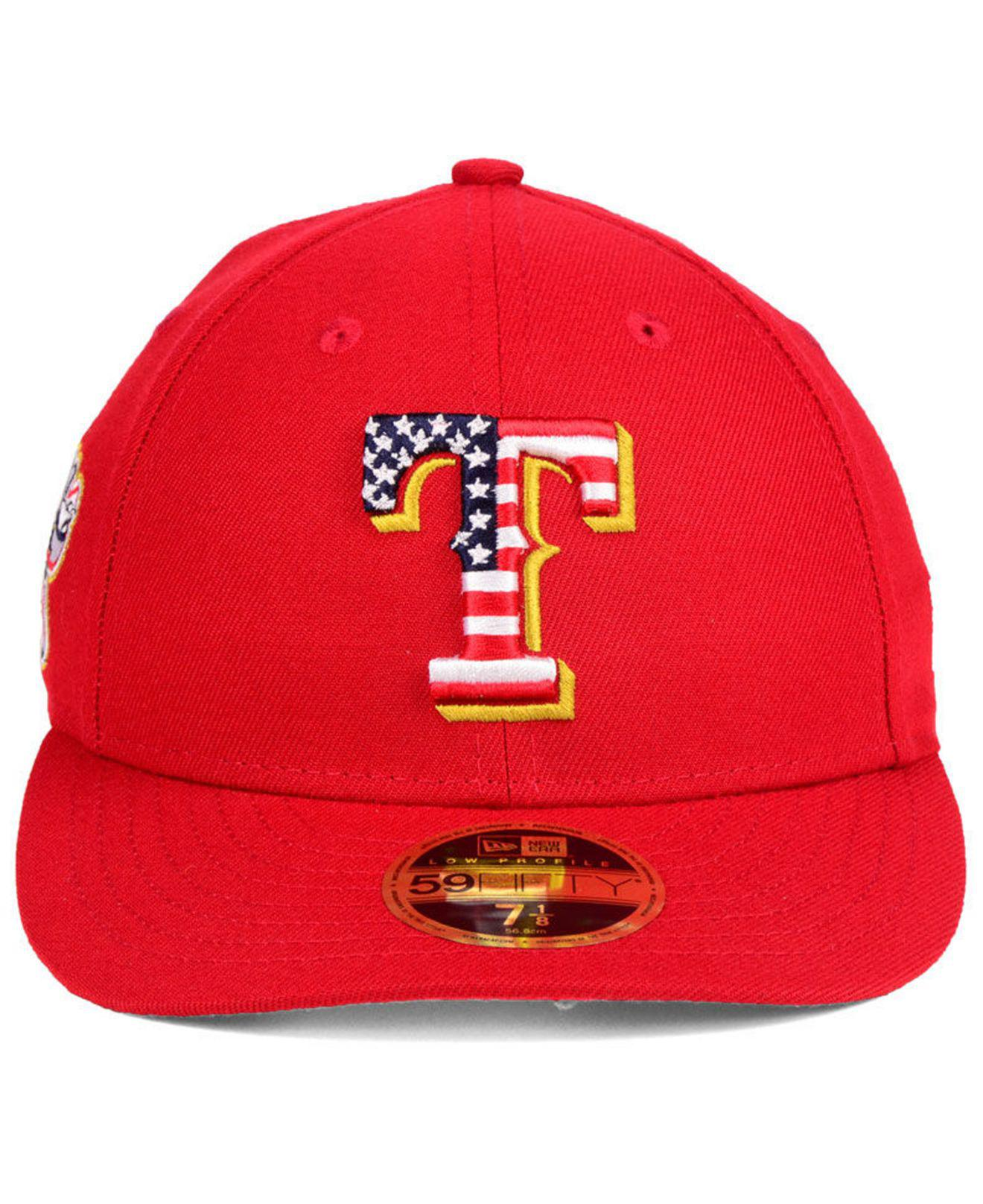 b9cac0e42b1abc ... official store lyst ktz texas rangers stars and stripes low profile  59fifty fitted cap 2018 in