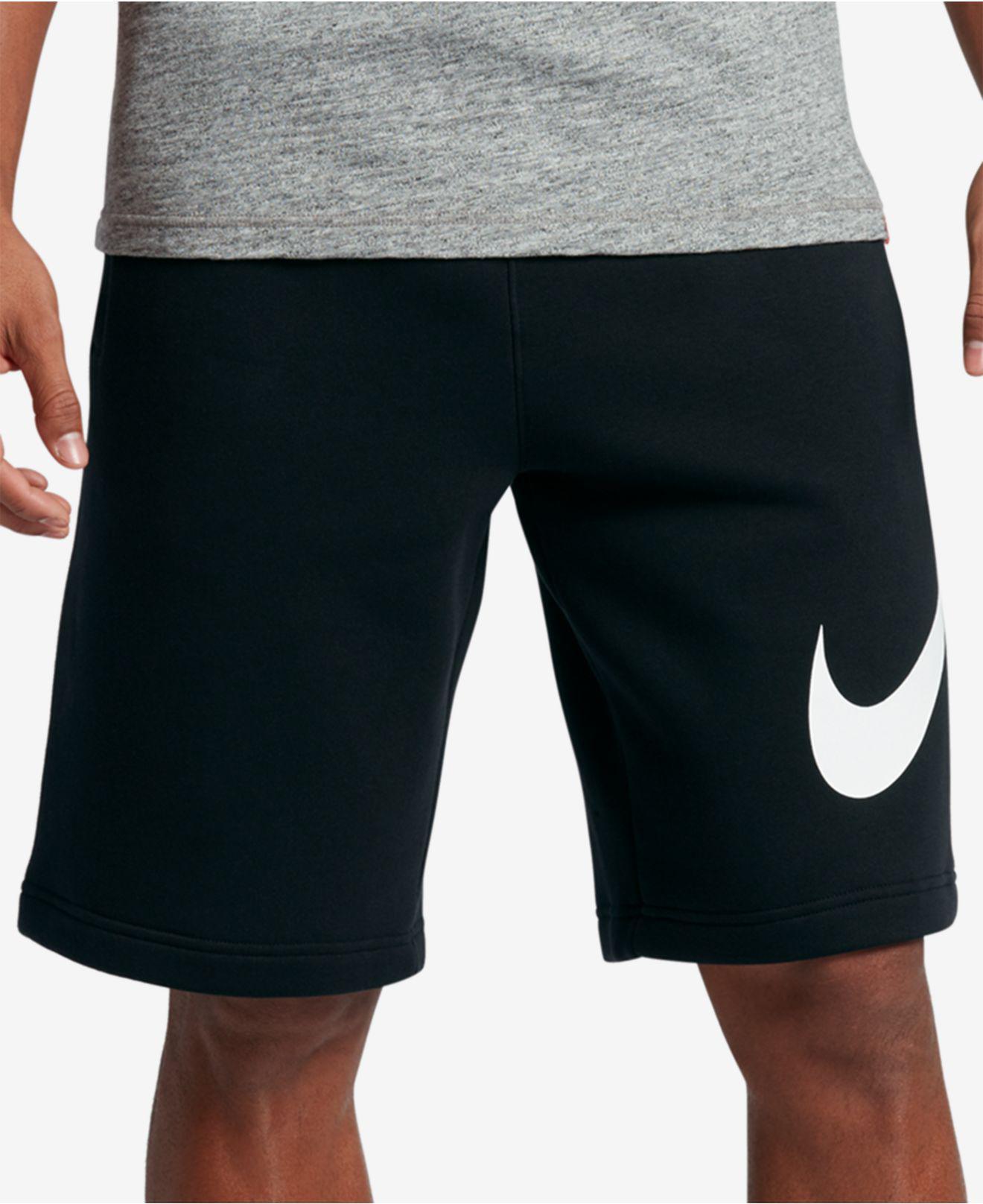 71b5d64b1c5256 Lyst - Nike Men s Club Fleece Shorts in Black for Men