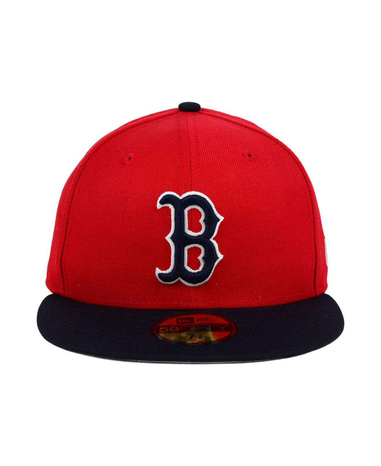 Lyst - KTZ Boston Red Sox Mlb Cooperstown 59fifty Cap in Red for Men 245eb1bde367