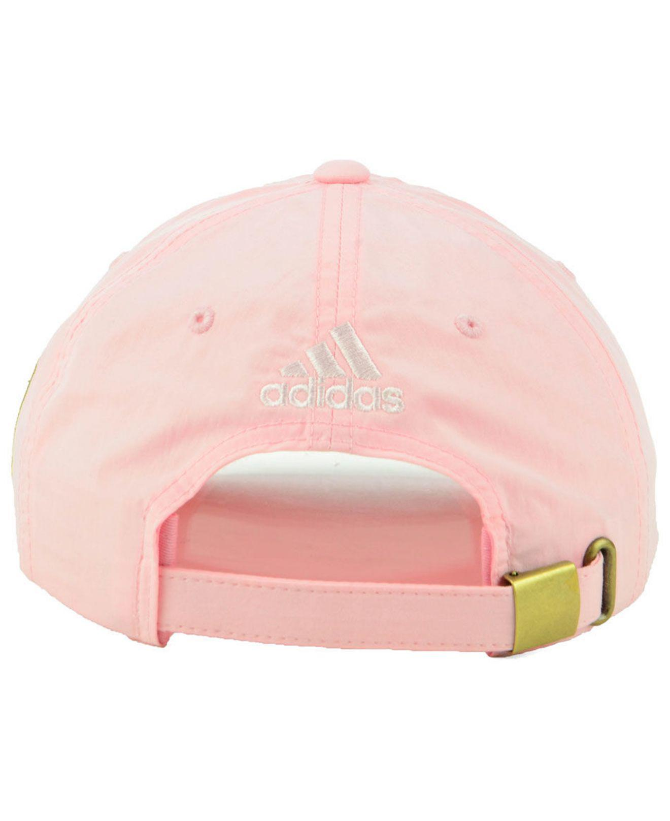 newest 9c89a 799b6 ... low price adidas los angeles football club pink easy adjustable cap lyst.  view fullscreen 5b5a6