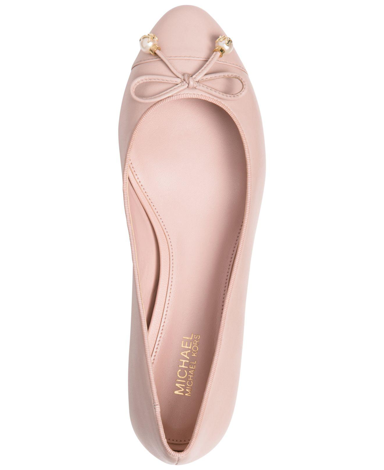 34bf12ec5ebb Michael Kors Gia Loafer Flats in Pink - Lyst