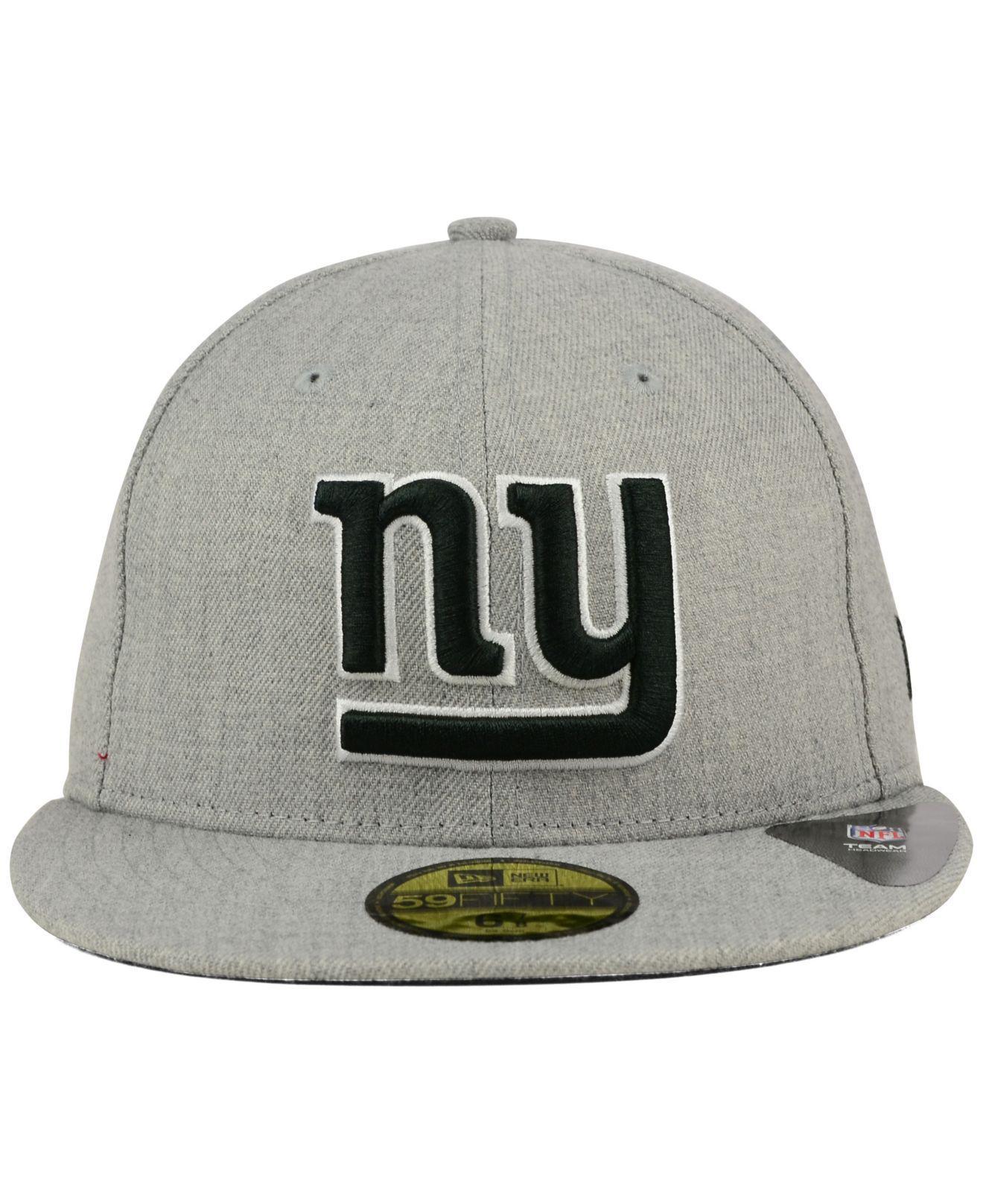 Lyst - KTZ New York Giants Heather Black White 59fifty Cap in Gray for Men df65942ab