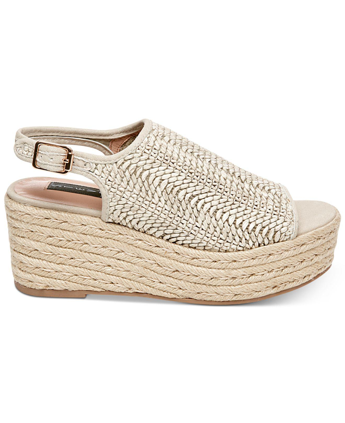 c4acce04807 Lyst - Steven by Steve Madden Courage Espadrille Wedge Sandals in Natural -  Save 36%